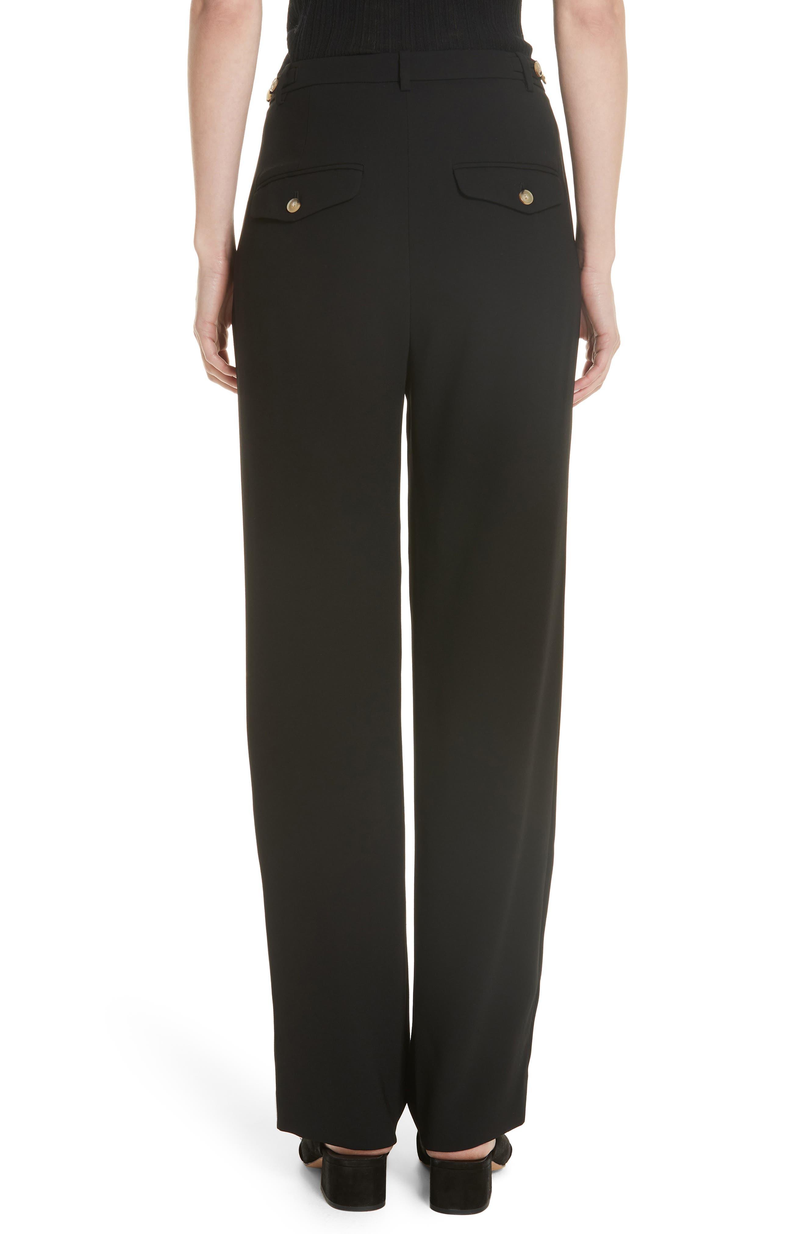 High Waist Straight Leg Pants,                             Alternate thumbnail 2, color,                             BLACK