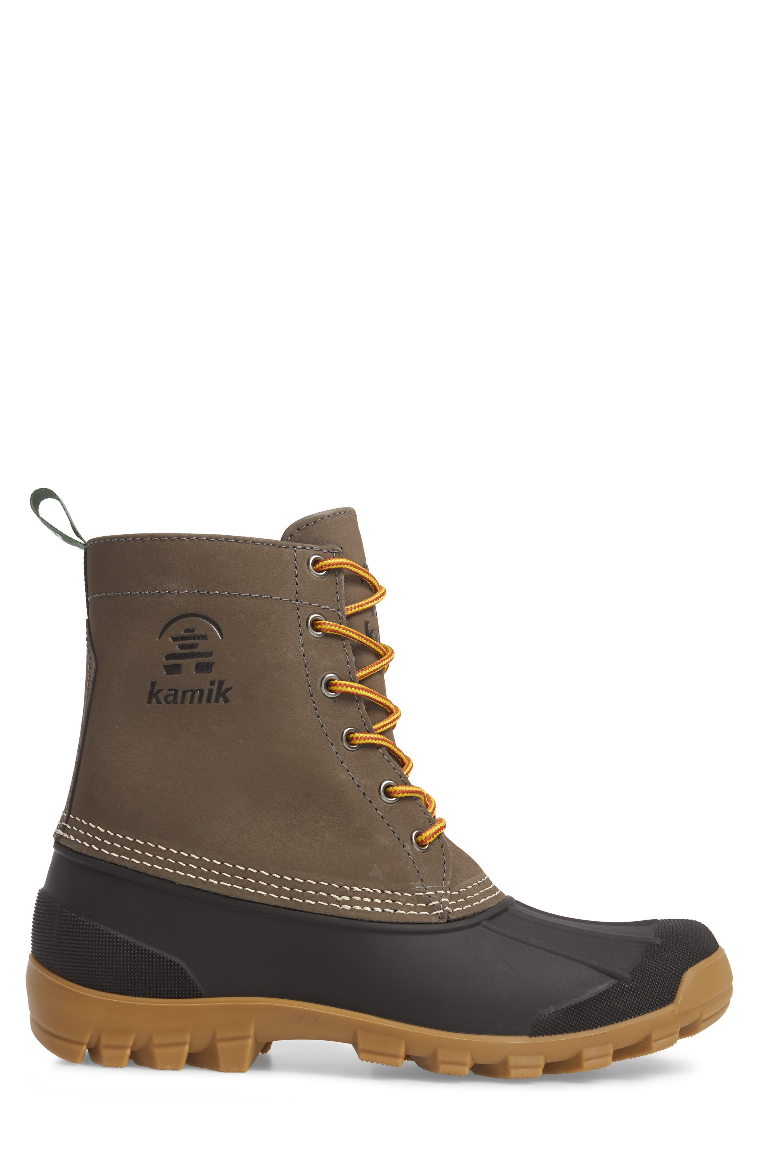 Yukon 6 Waterproof Insulated Three-Season Boot,                             Alternate thumbnail 3, color,                             CHARCOAL LEATHER