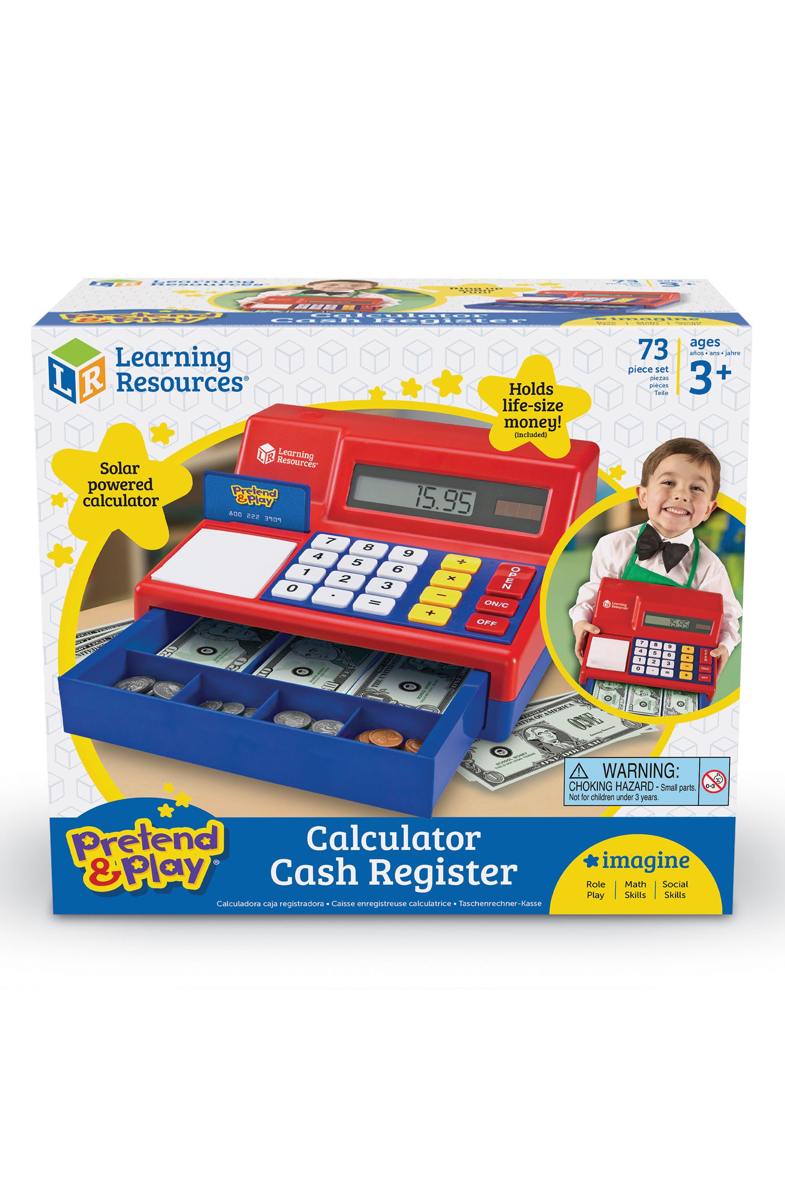 73-Piece Calculator Cash Register Toy,                             Main thumbnail 1, color,