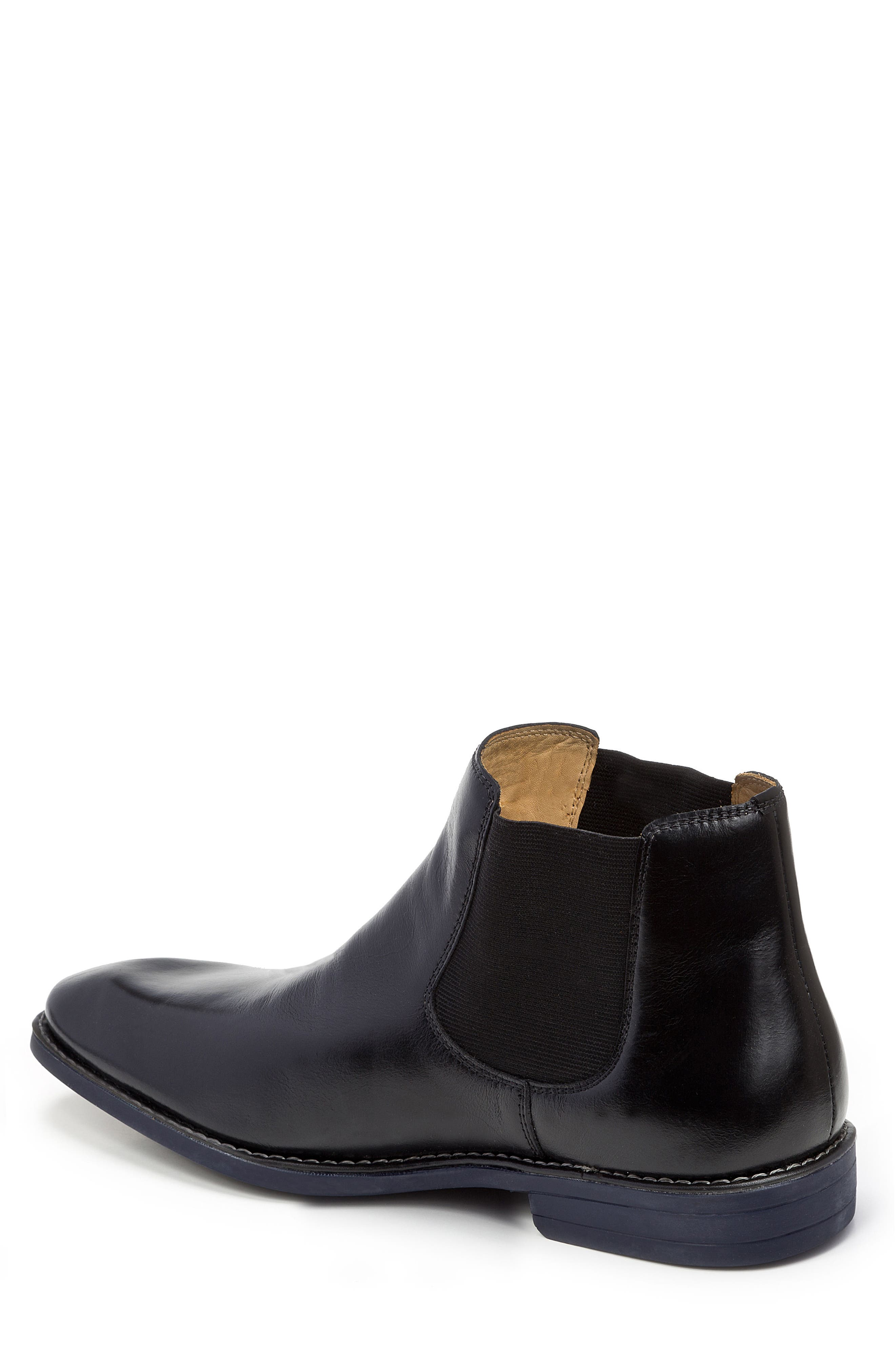 Marcus Chelsea Boot,                             Alternate thumbnail 2, color,                             BLACK LEATHER