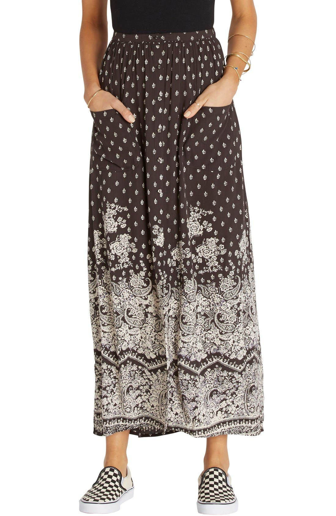 Honey High Waist Maxi Skirt,                             Main thumbnail 1, color,                             015