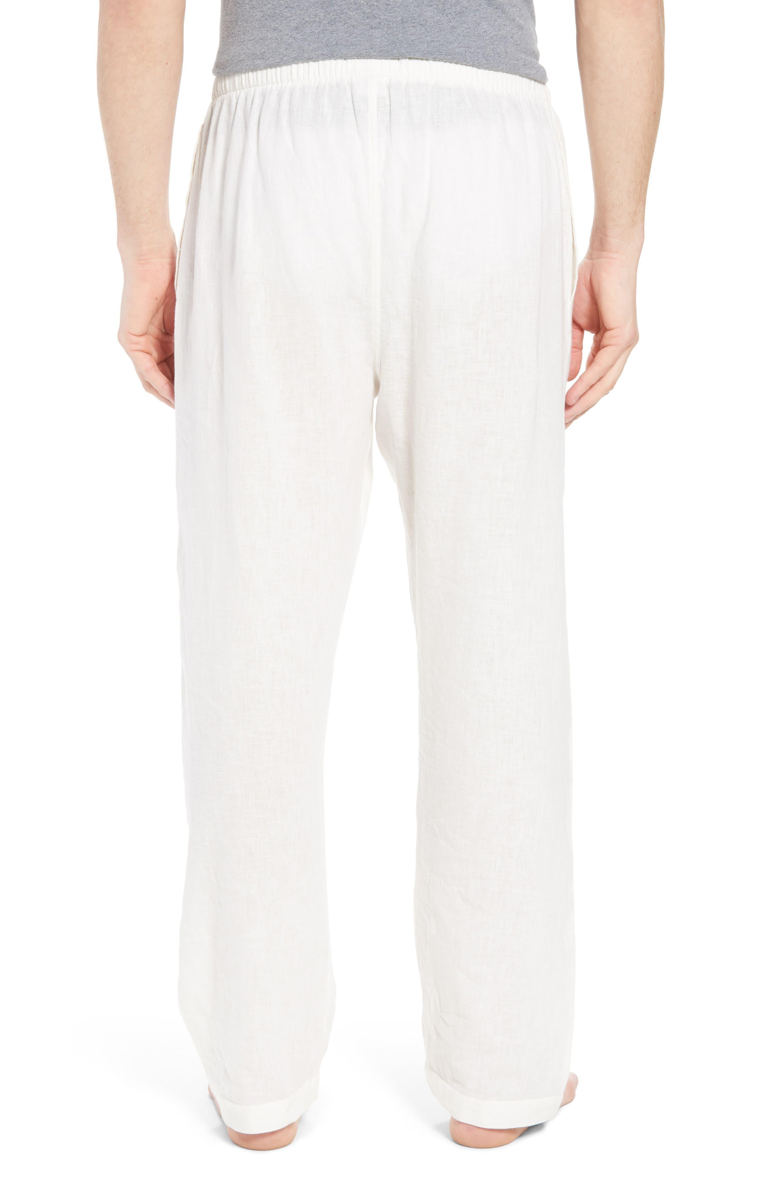 Walker Cotton & Linen Lounge Pants,                             Alternate thumbnail 2, color,                             NEVIS/ BRIGHT NAVY