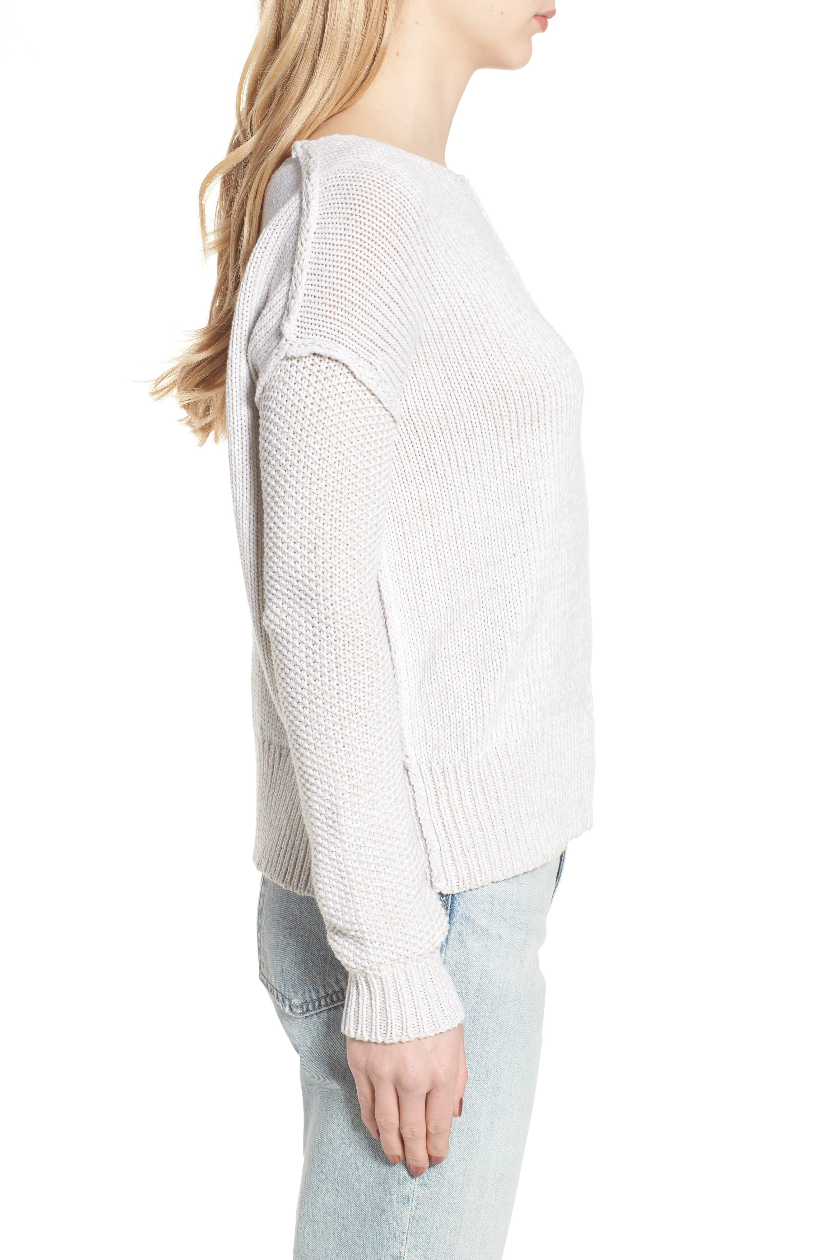 Lola Reversible Twist Sweater,                             Alternate thumbnail 3, color,                             100