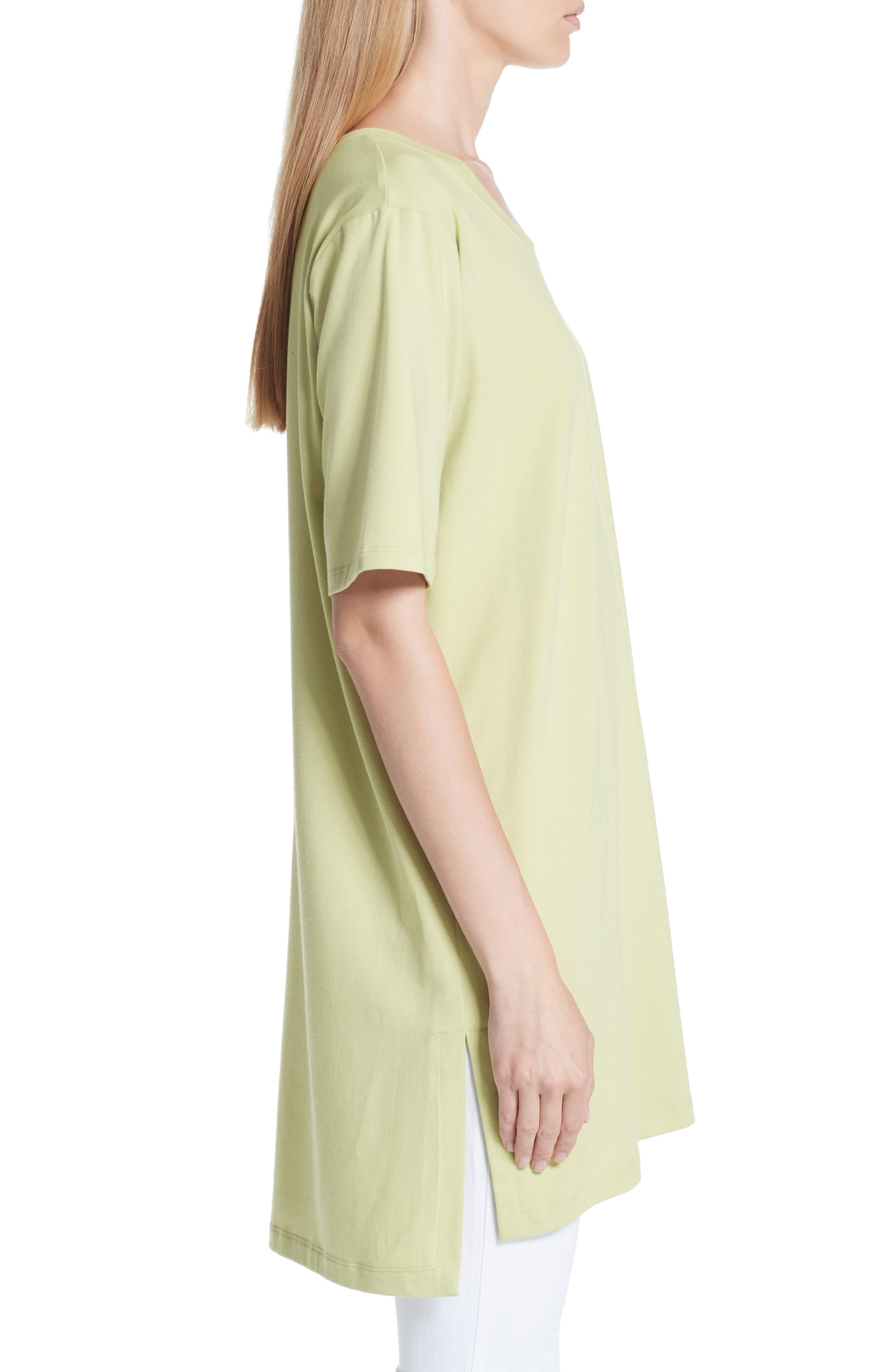 Stretch Organic Cotton Jersey Tunic,                             Alternate thumbnail 3, color,                             361