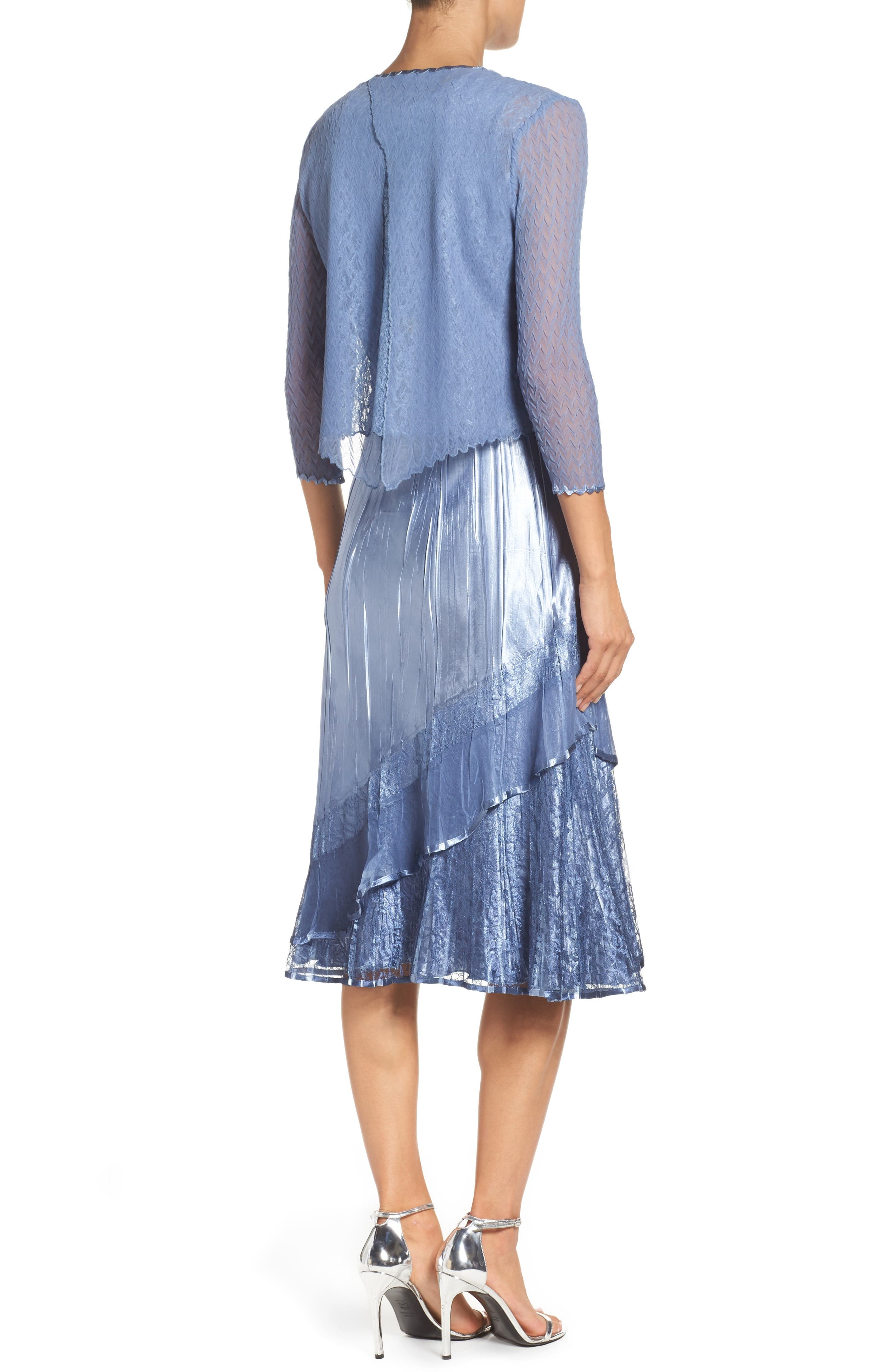 A-Line Dress & Jacket,                             Alternate thumbnail 2, color,                             431