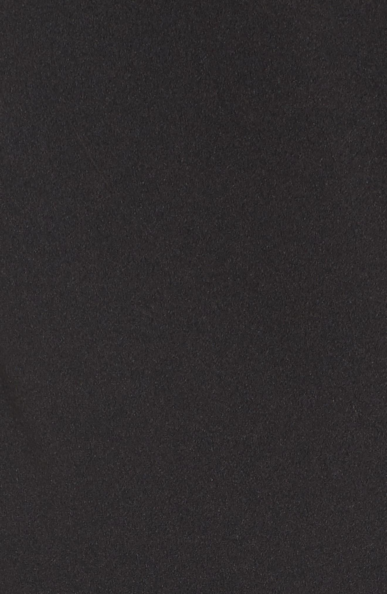 Corset Waist Lace Minidress,                             Alternate thumbnail 5, color,                             001