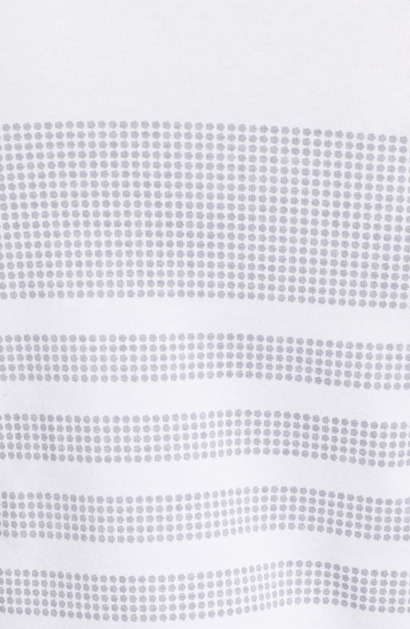 Sportstyle Crewneck T-Shirt,                             Alternate thumbnail 5, color,                             WHITE / OVERCAST GREH