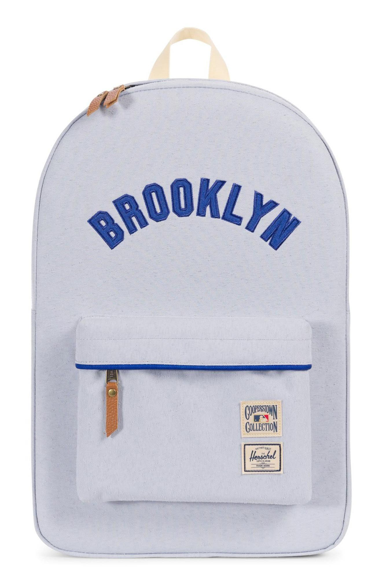 Heritage - MLB Cooperstown Collection Backpack,                             Main thumbnail 1, color,                             BROOKLYN DODGERS