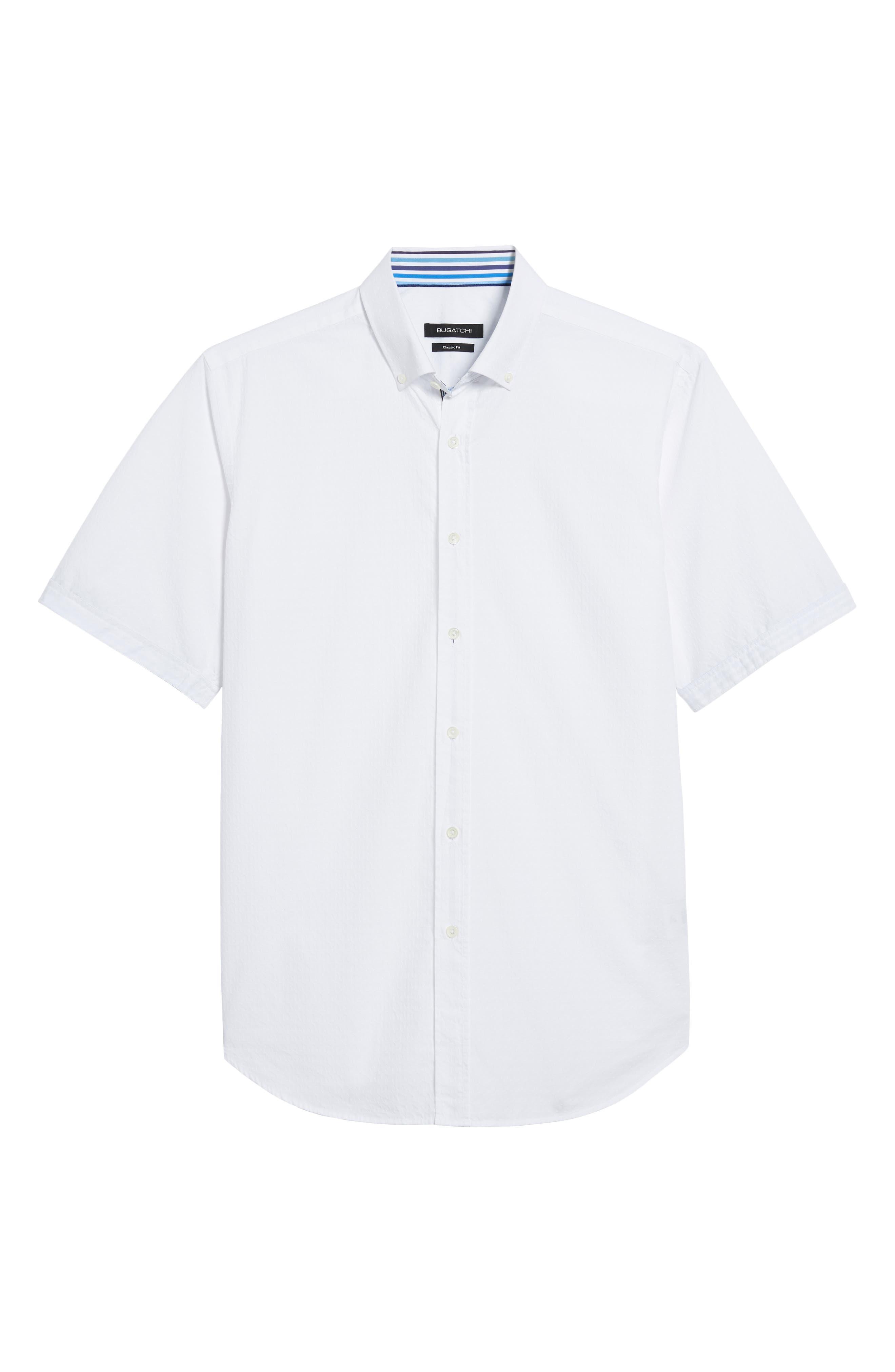 Classic Fit Textured Sport Shirt,                             Alternate thumbnail 6, color,                             WHITE