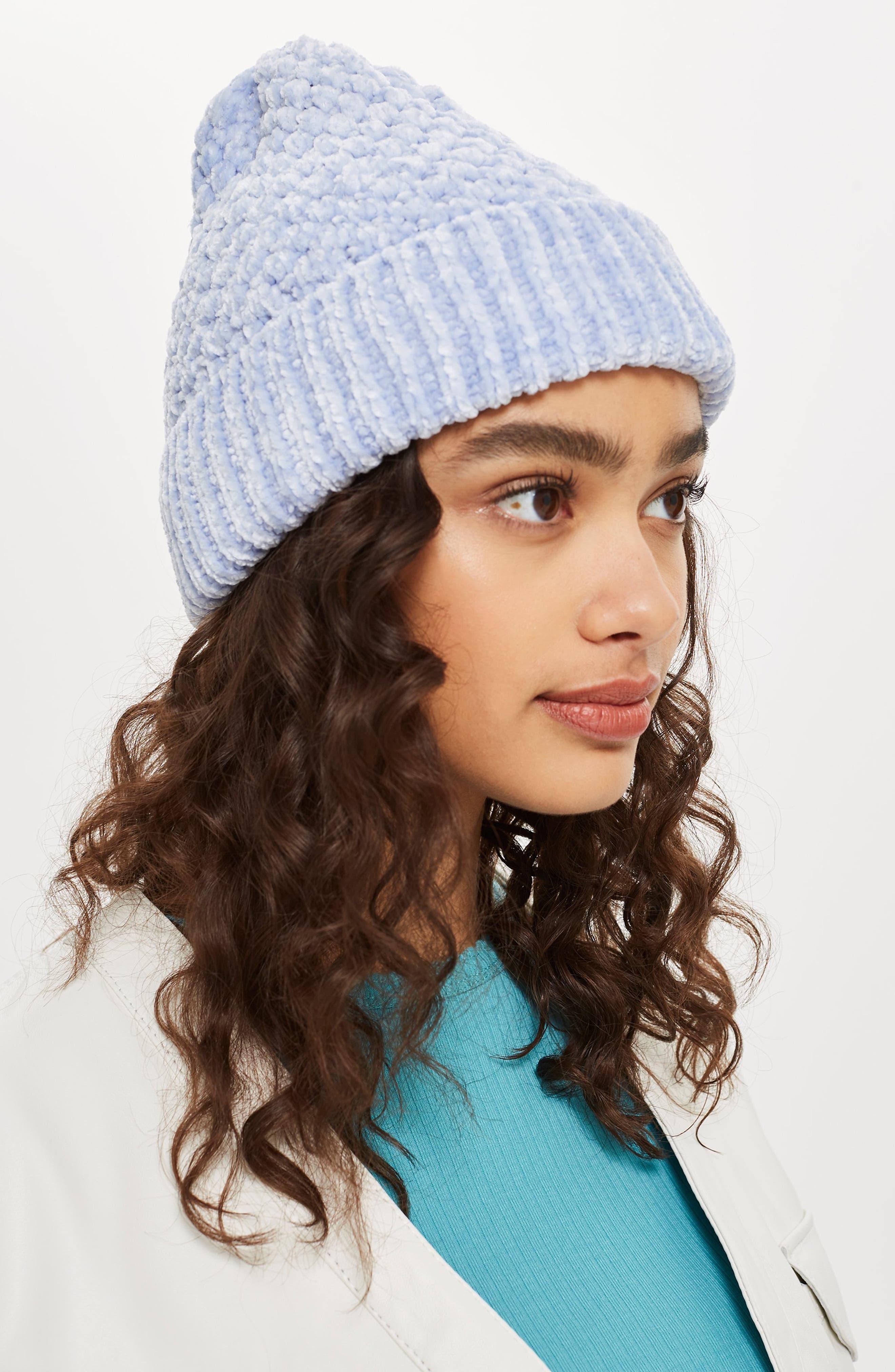 Chenille Beanie Hat,                             Alternate thumbnail 3, color,                             LILAC