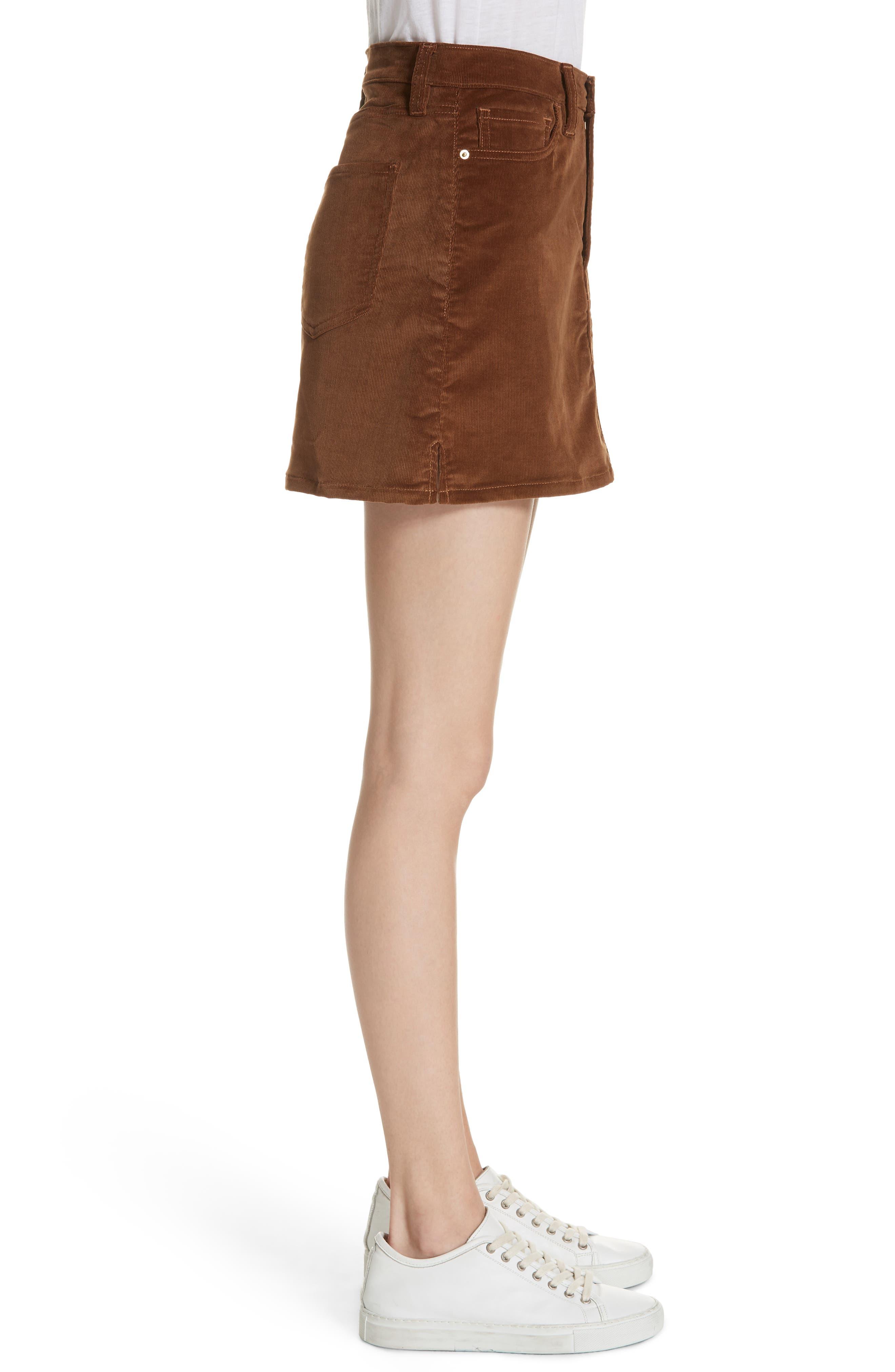 Le Mini Corduroy Skirt,                             Alternate thumbnail 3, color,                             253