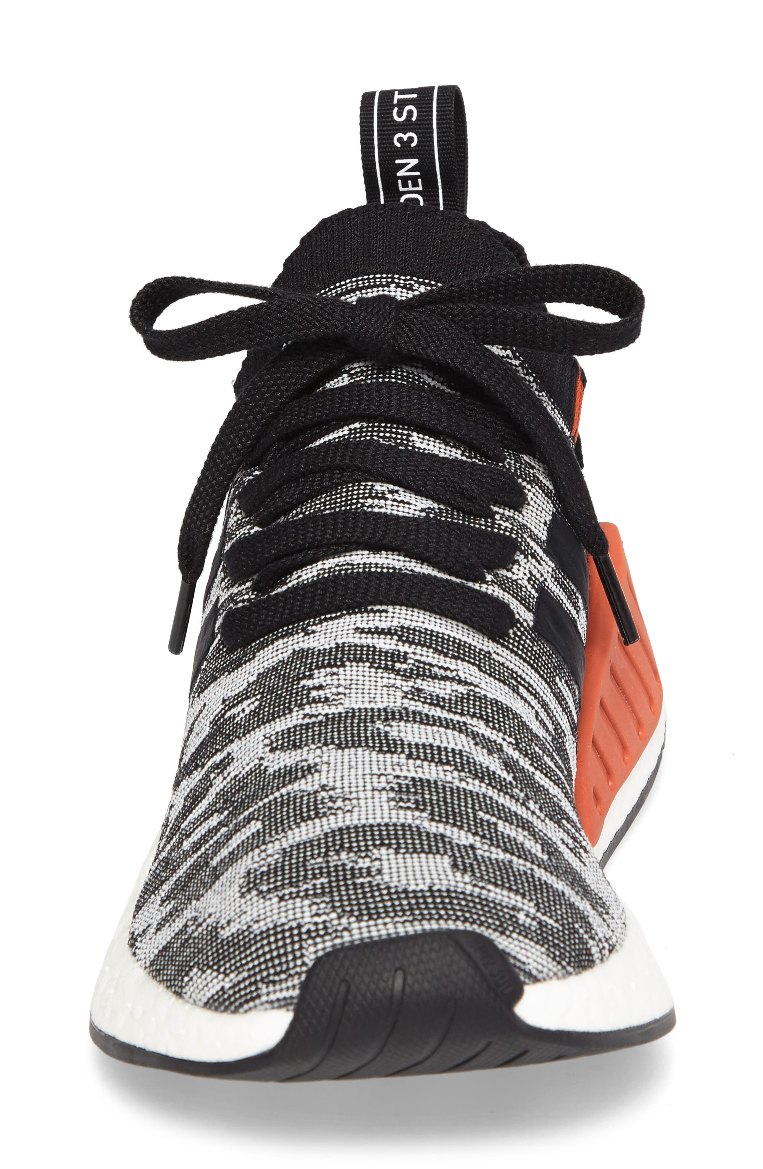 NMD R2 Primeknit Running Shoe,                             Alternate thumbnail 4, color,                             002