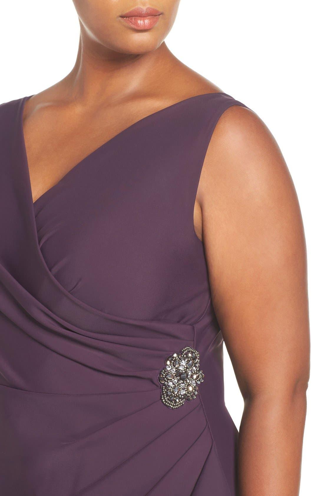 Embellished Surplice Sheath Dress,                             Alternate thumbnail 26, color,