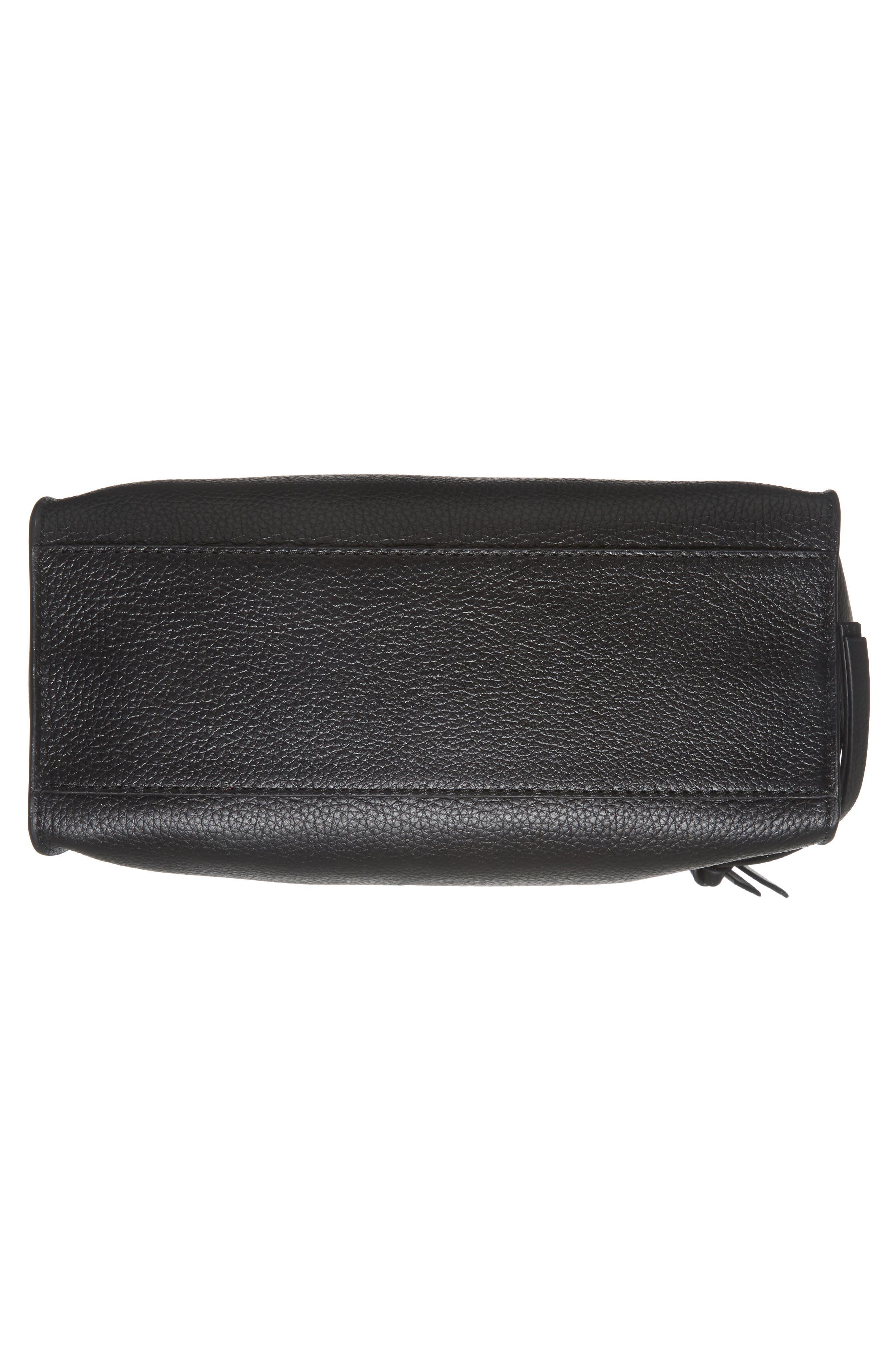 Large Paloma Leather Hobo,                             Alternate thumbnail 6, color,                             001