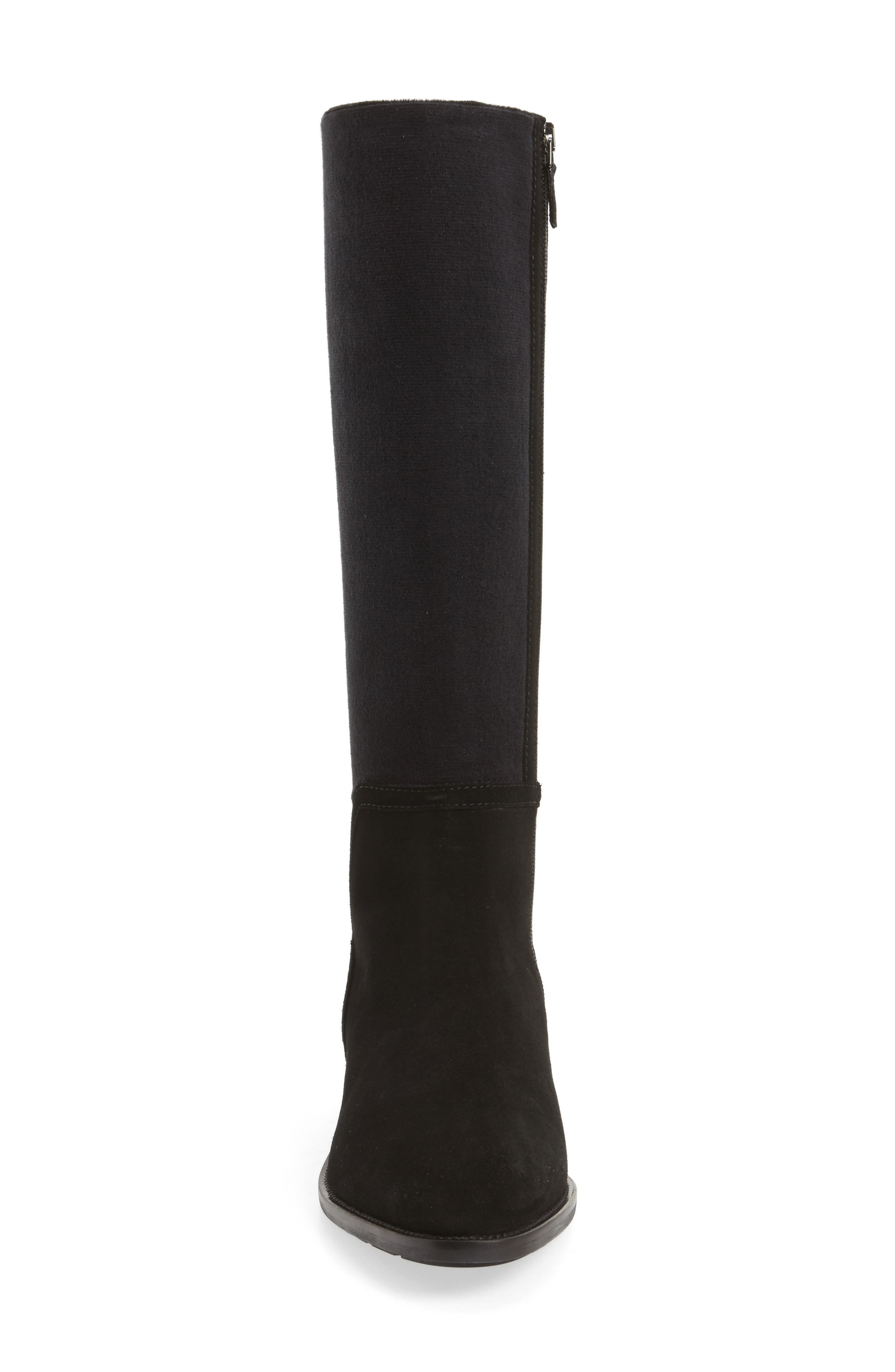 Nicolette Knee High Weatherproof Boot,                             Alternate thumbnail 4, color,                             001