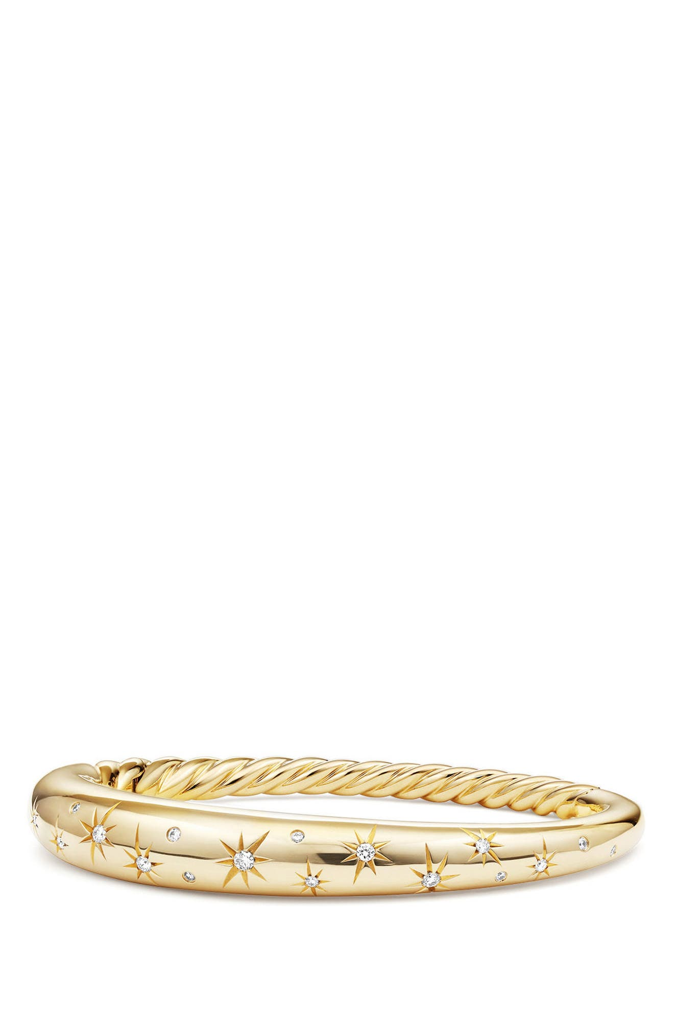 Pure Form<sup>®</sup> CollectionPure Form<sup>®</sup> Smooth 18K Gold Bracelet with Diamonds, 9.5mm,                         Main,                         color, YELLOW GOLD