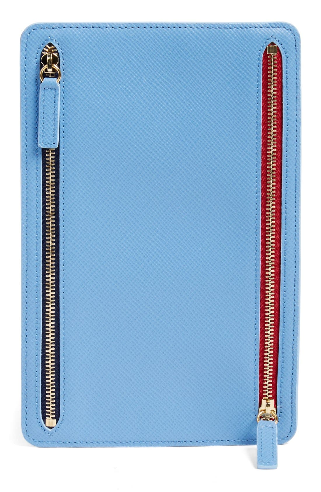 'Panama' Zip Currency Case,                             Alternate thumbnail 2, color,                             NILE BLUE