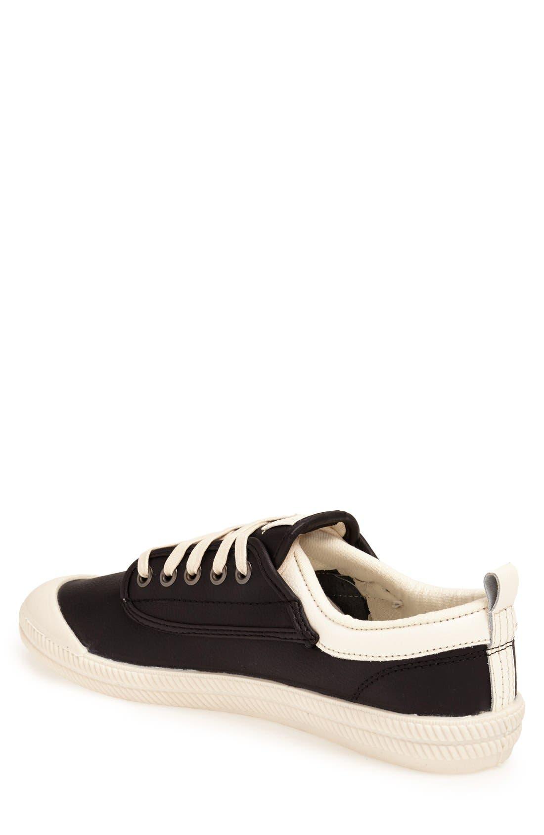 'International' Leather Sneaker,                             Alternate thumbnail 3, color,                             015