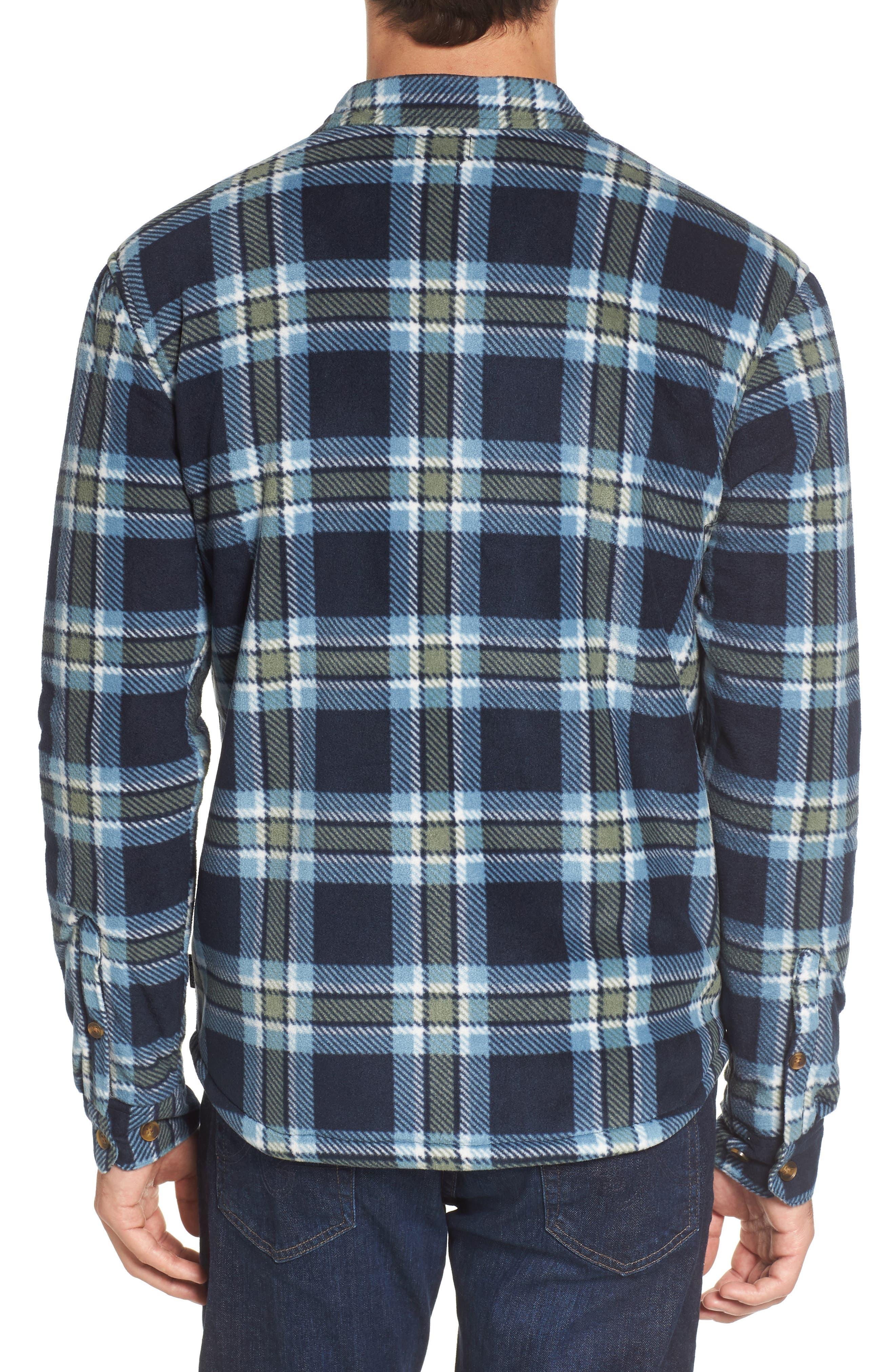 Glacier Heat Dome Plaid Fleece Shirt,                             Alternate thumbnail 4, color,