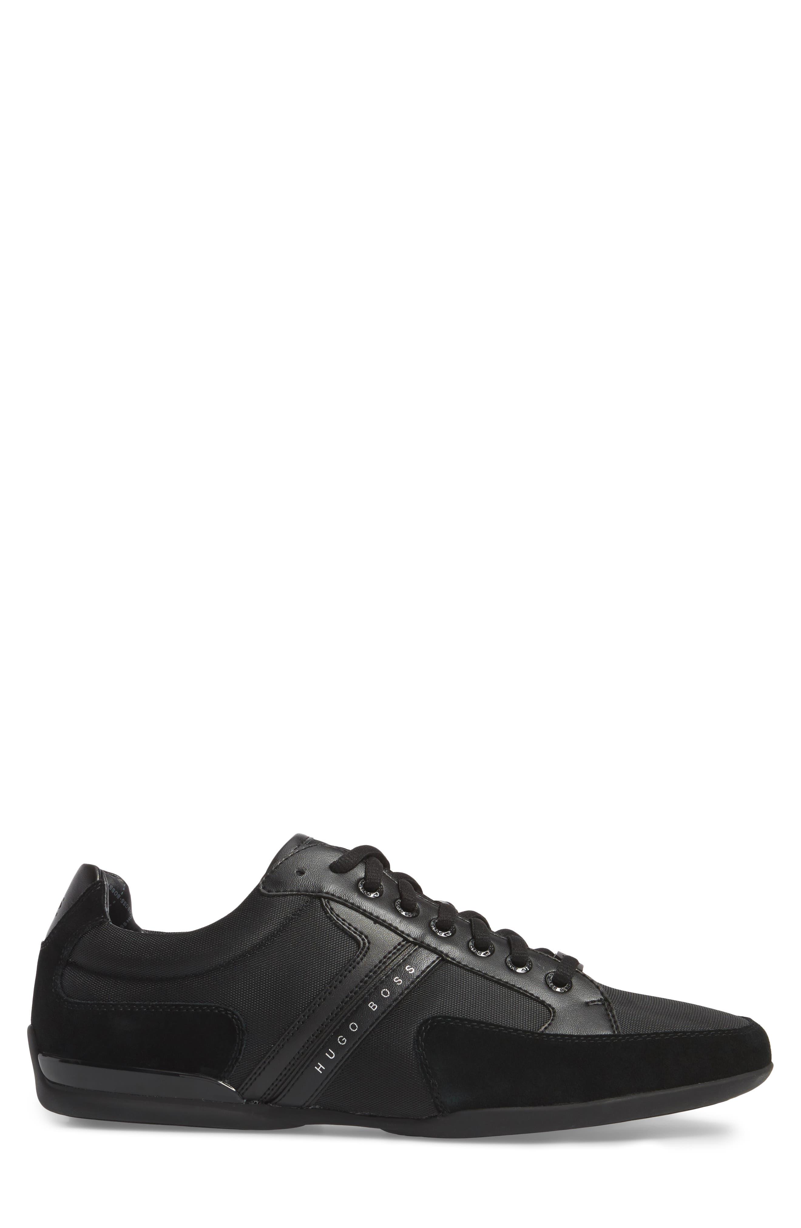 BOSS,                             Hugo Boss Sneaker,                             Alternate thumbnail 3, color,                             001