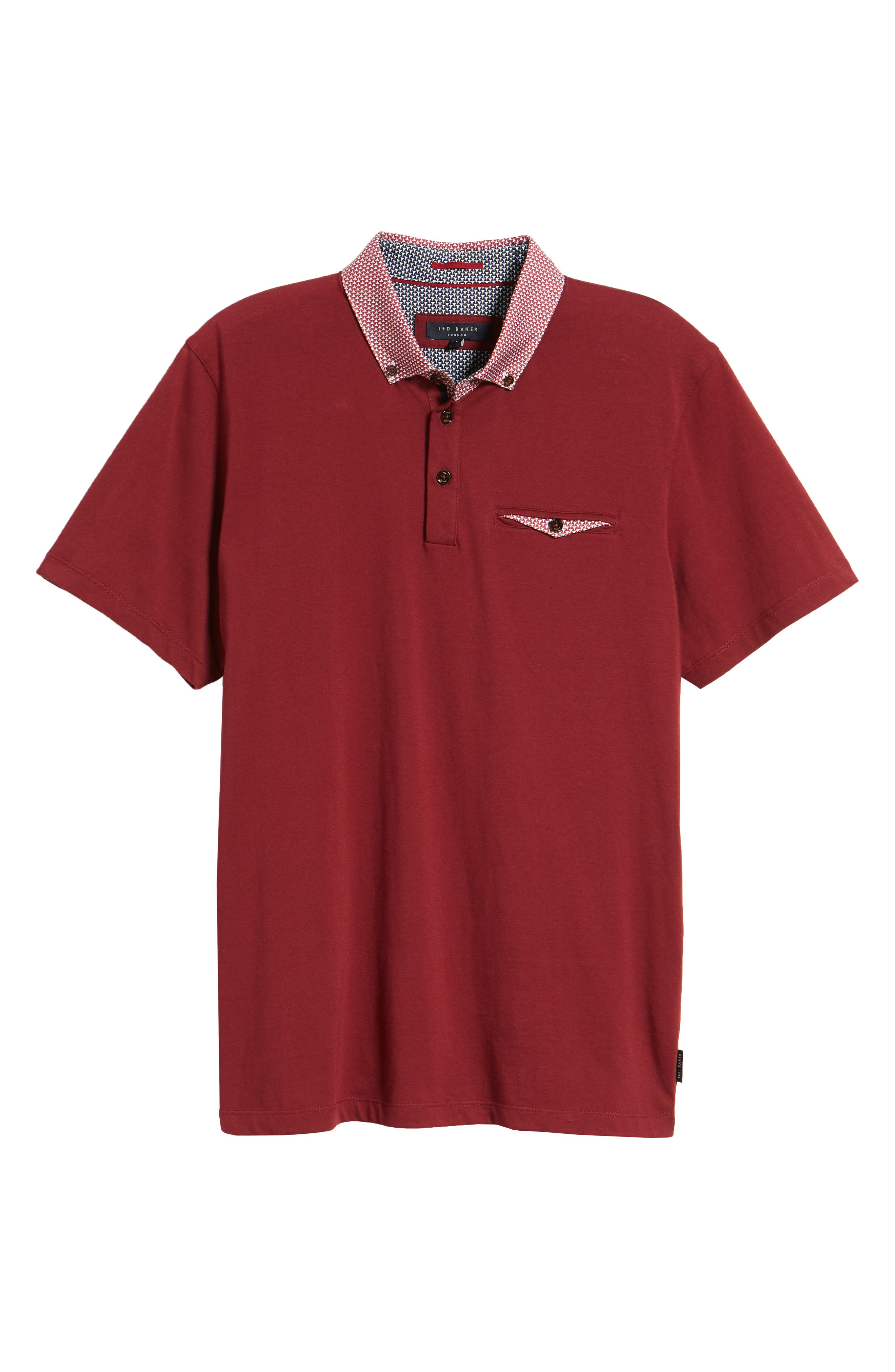 Movey Trim Fit Woven Geo Polo,                             Alternate thumbnail 24, color,