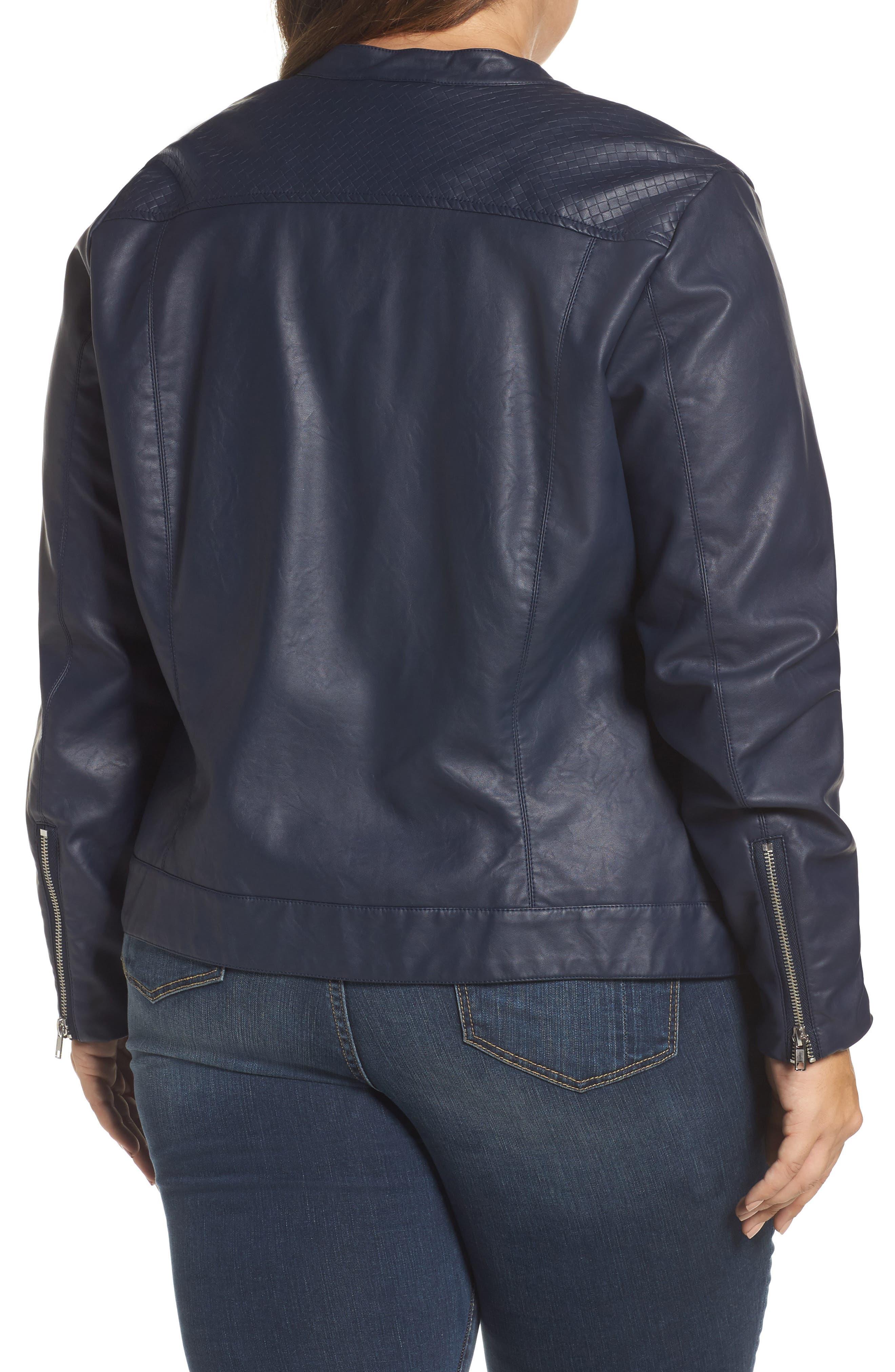 Vava Faux Leather Moto Jacket,                             Alternate thumbnail 2, color,                             411
