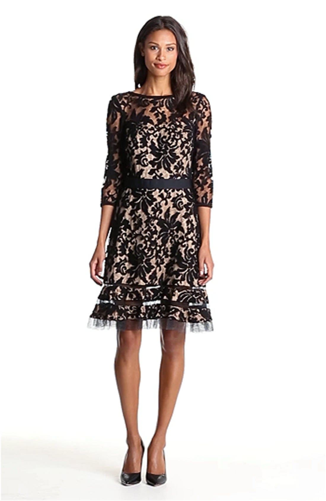 Lace Overlay Dress,                             Alternate thumbnail 23, color,