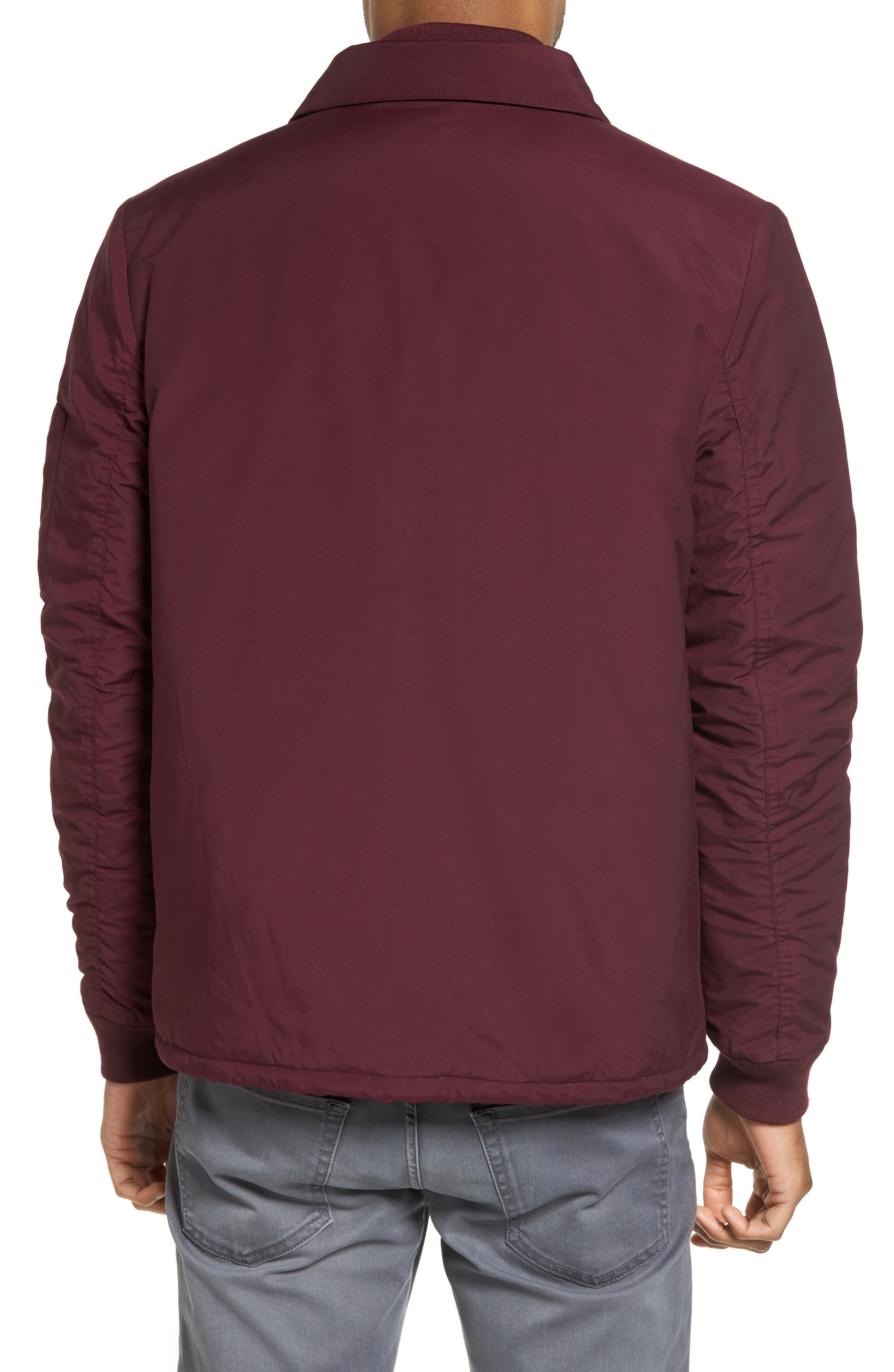Collared Bomber Jacket,                             Alternate thumbnail 4, color,