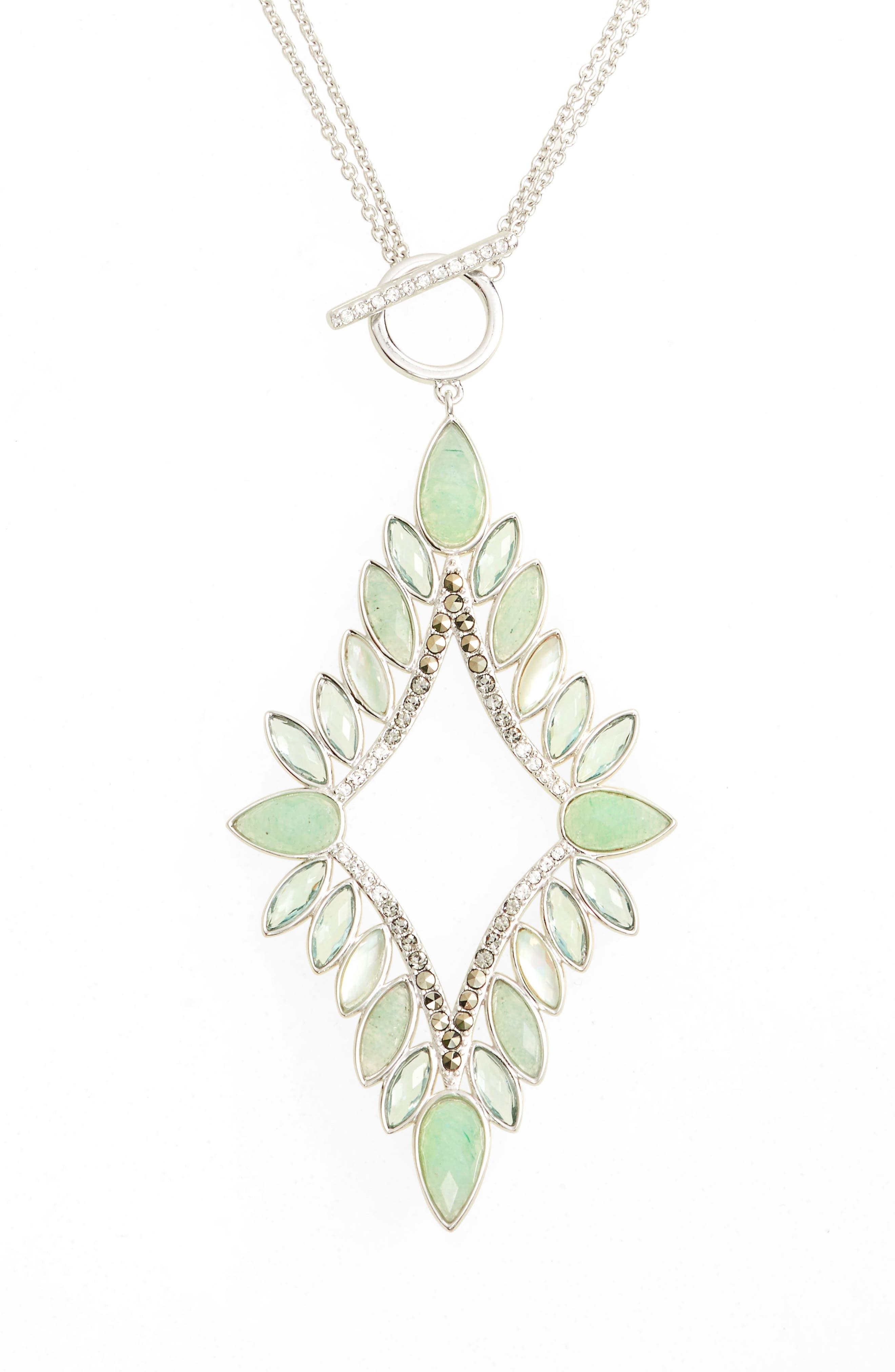 Pendant Necklace,                         Main,                         color, 300