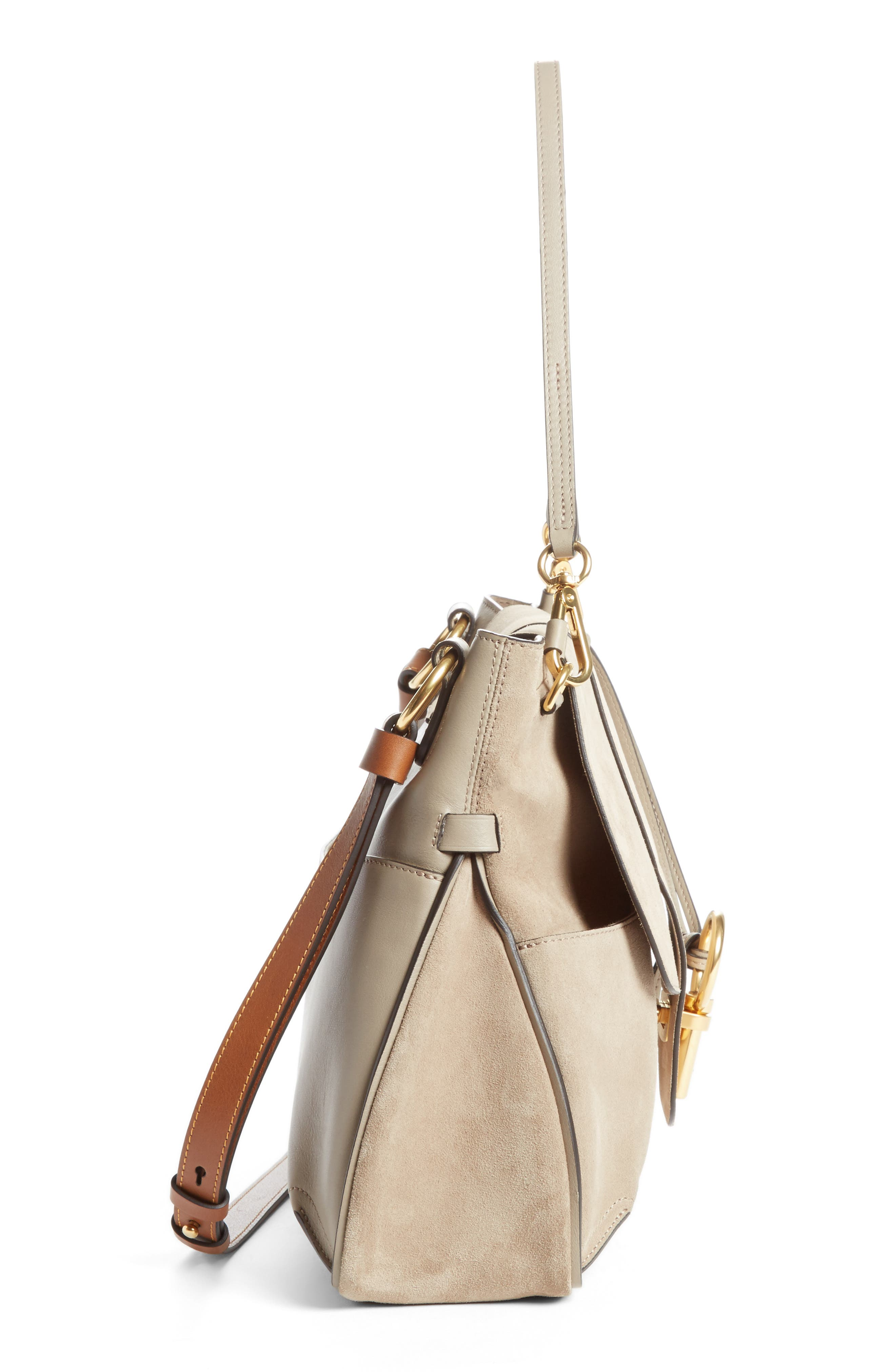Medium Lexa Leather Shoulder Bag,                             Alternate thumbnail 3, color,                             031