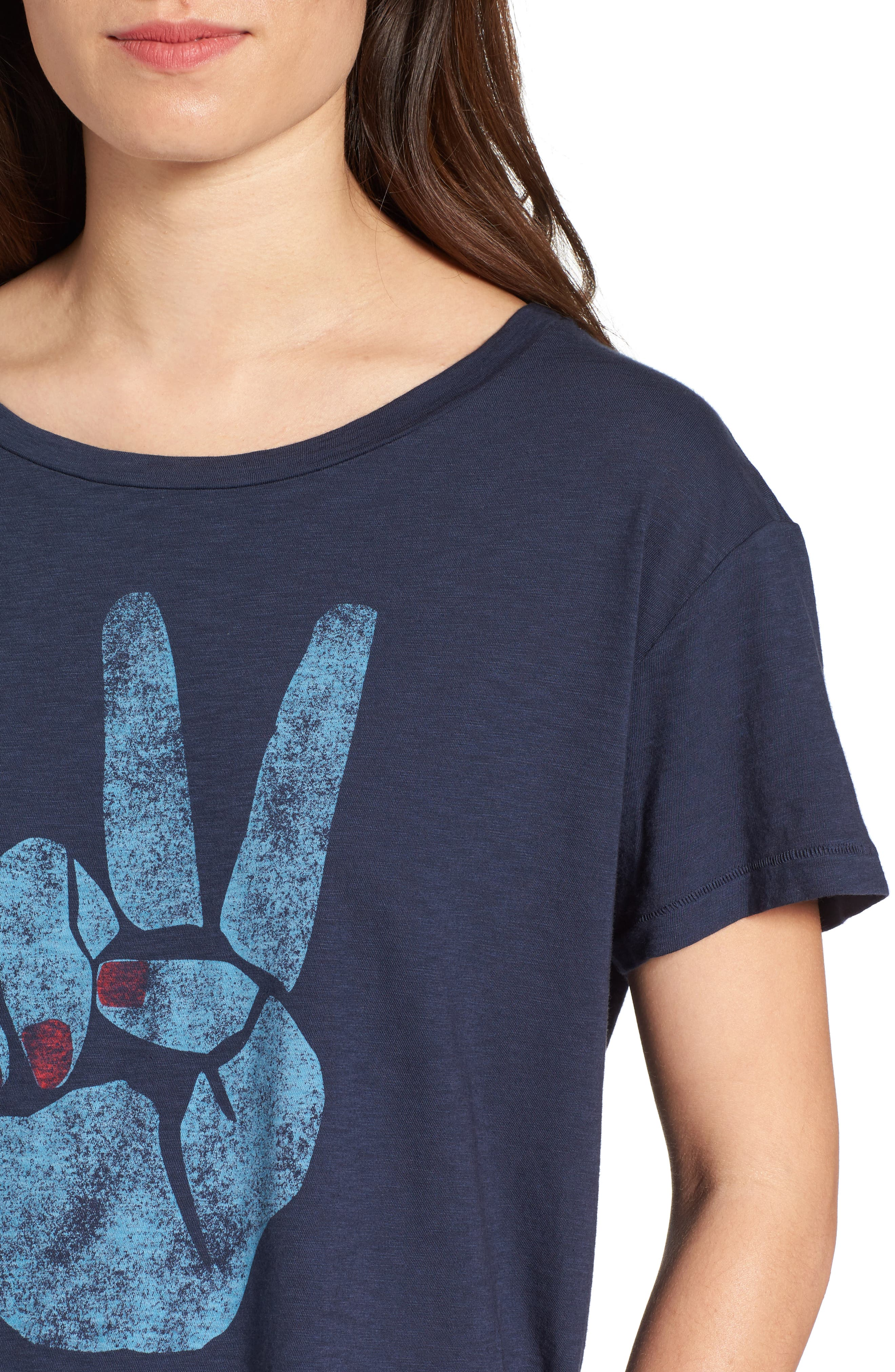 Peace Sign Tee,                             Alternate thumbnail 4, color,                             410