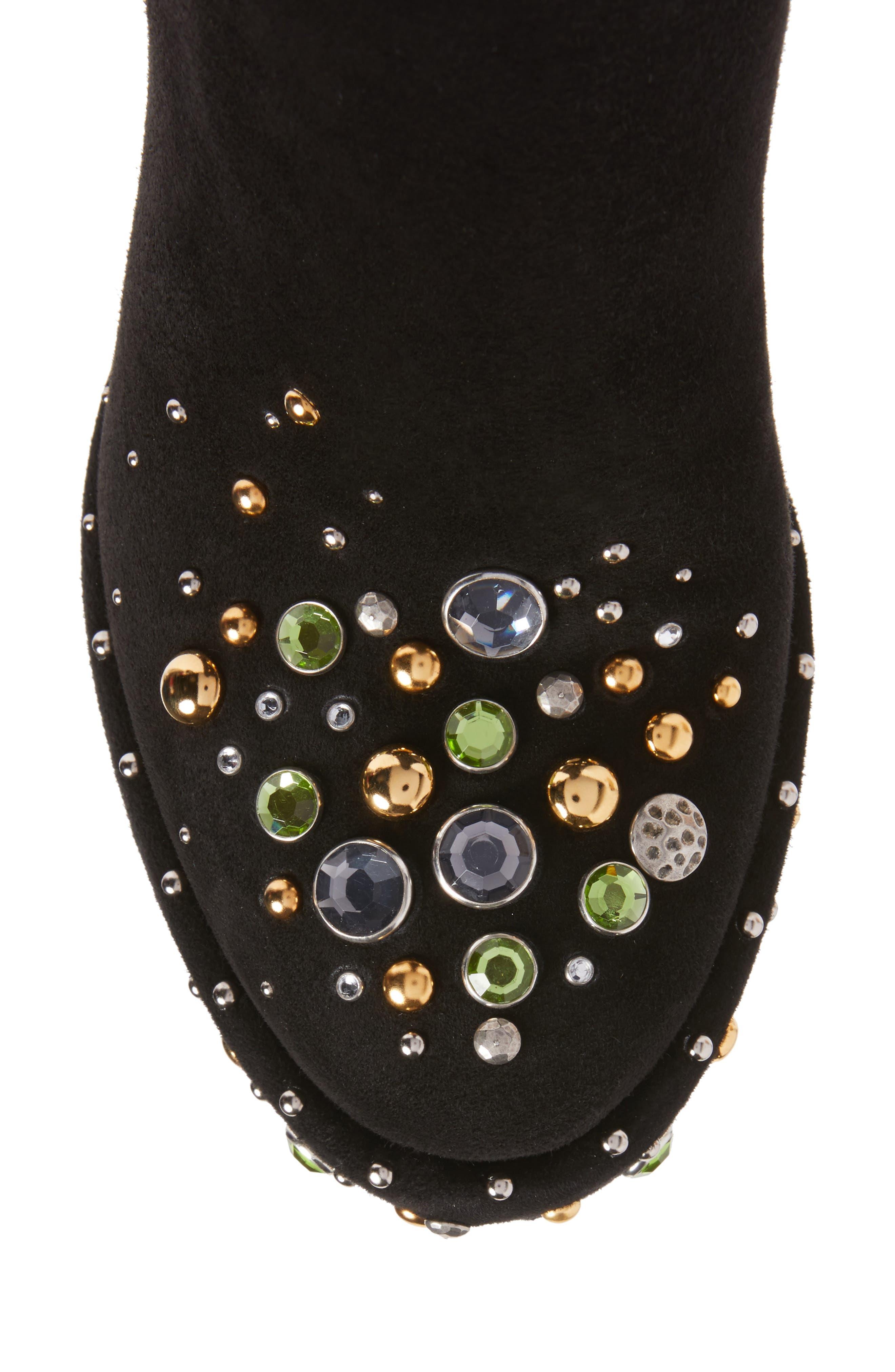Embellished Platform Boot,                             Alternate thumbnail 5, color,                             001