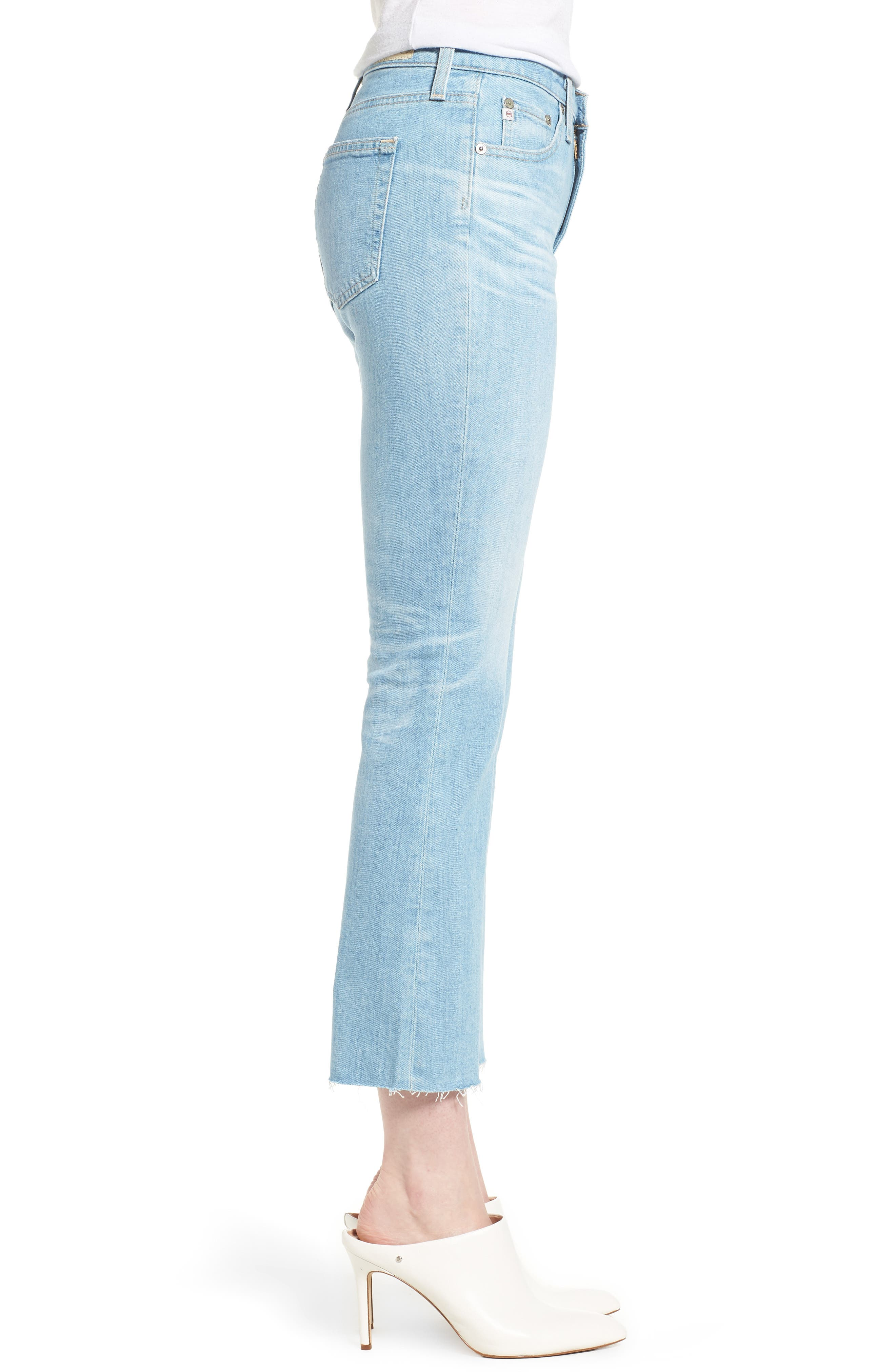 Jodi Crop Flare Jeans,                             Alternate thumbnail 3, color,                             496