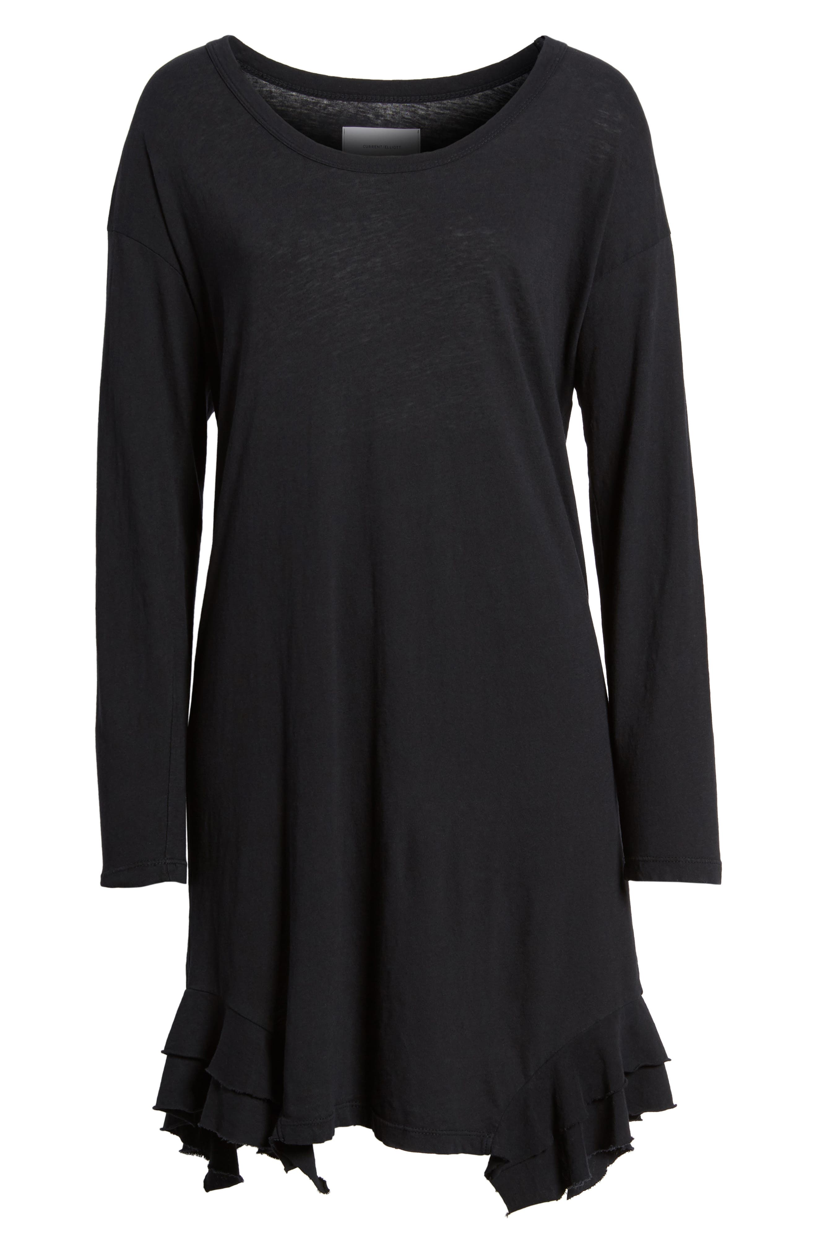 The Tier Long Sleeve Dress,                             Alternate thumbnail 6, color,                             008
