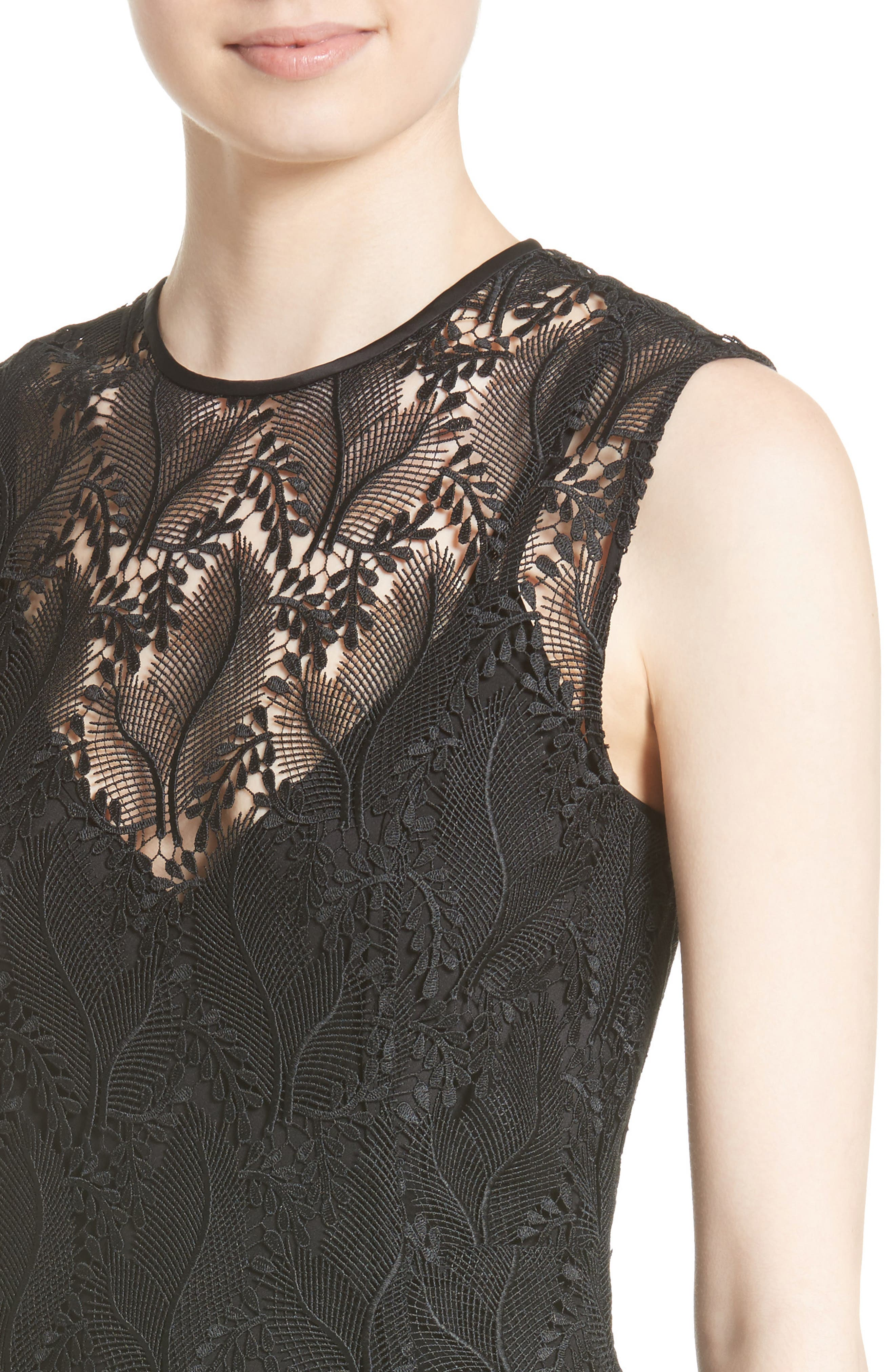 Lace Overlay Mindress,                             Alternate thumbnail 4, color,                             004