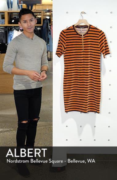 Striped Short Sleeve Velour Dress, sales video thumbnail