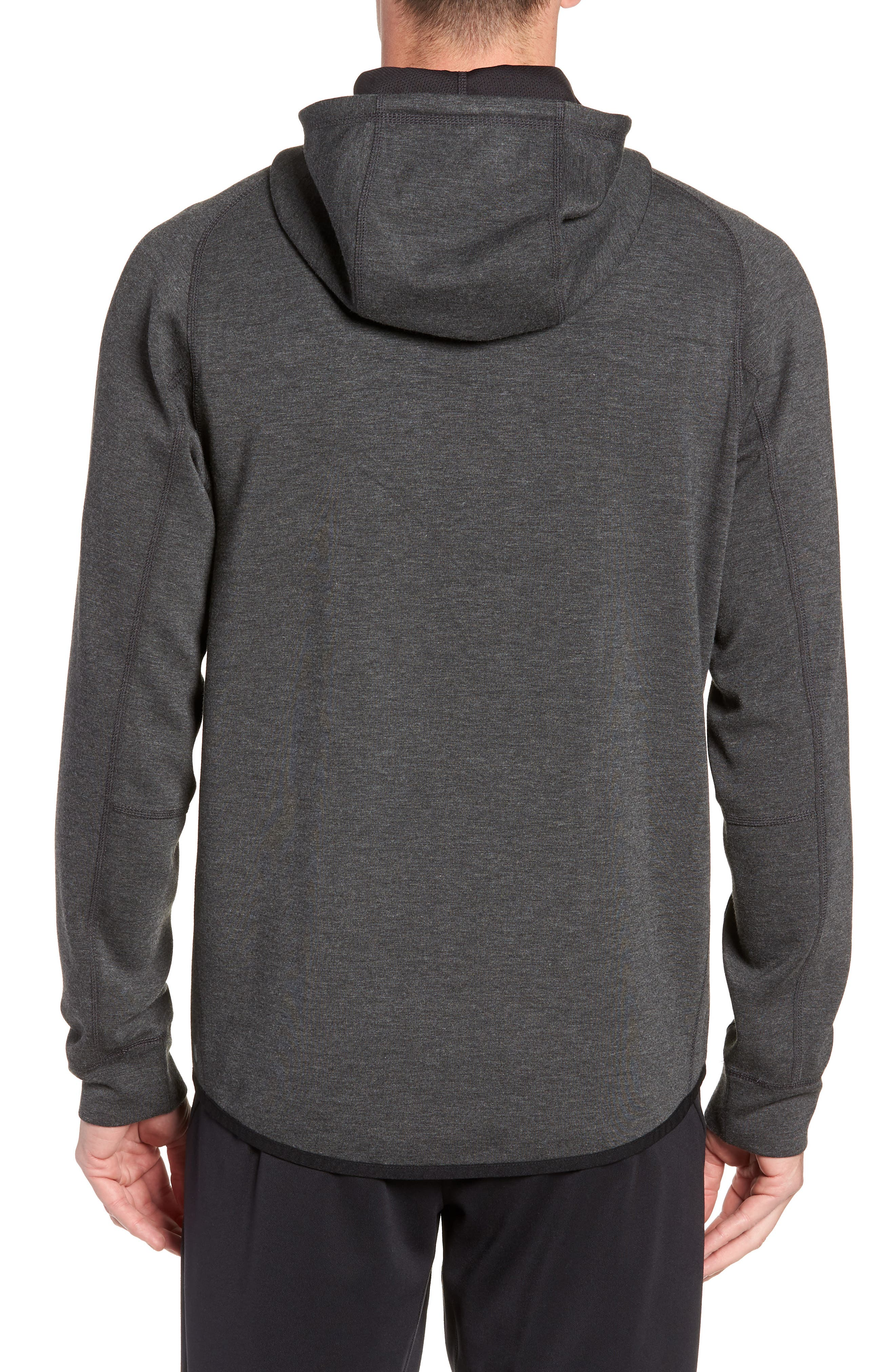 Active Pullover Hoodie,                             Alternate thumbnail 2, color,                             BLACK OXIDE HEATHER
