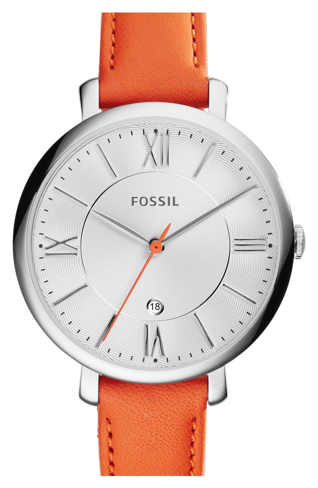 'Jacqueline' Round Leather Strap Watch, 36mm,                             Main thumbnail 19, color,