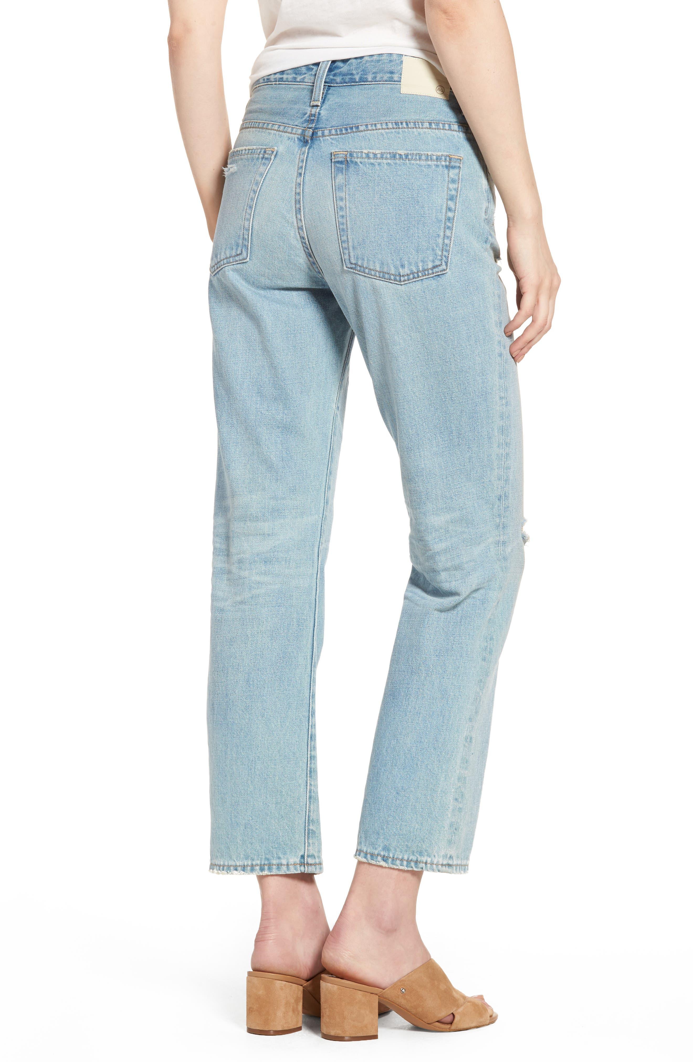 The Rhett Vintage High Waist Crop Jeans,                             Alternate thumbnail 6, color,
