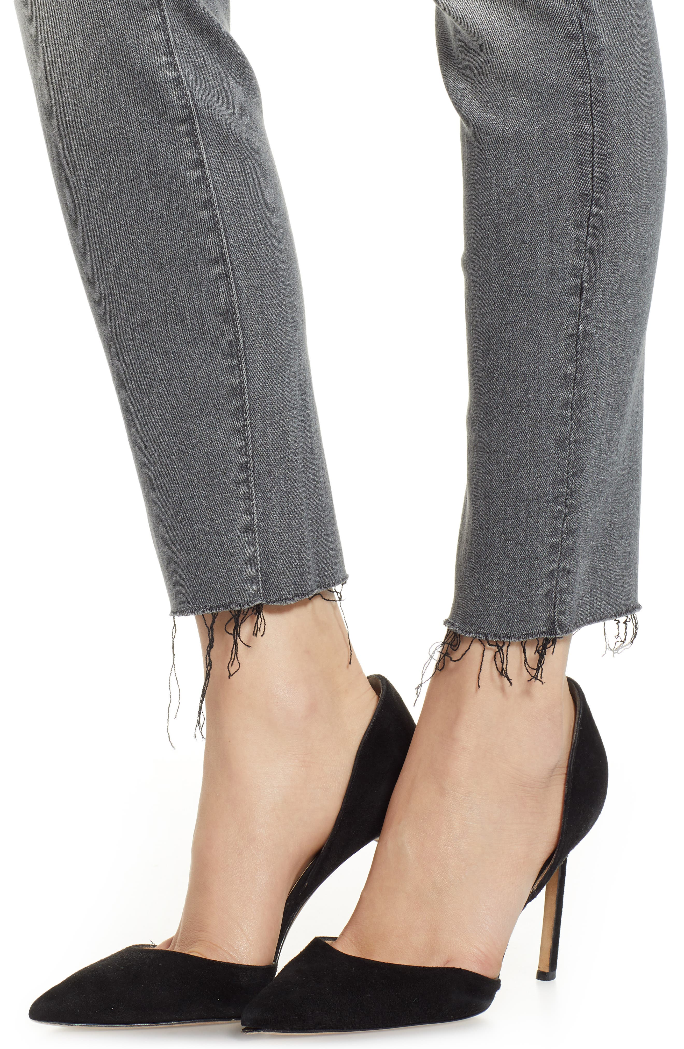 The Looker Frayed Ankle Jeans,                             Alternate thumbnail 4, color,                             SUPER MOON