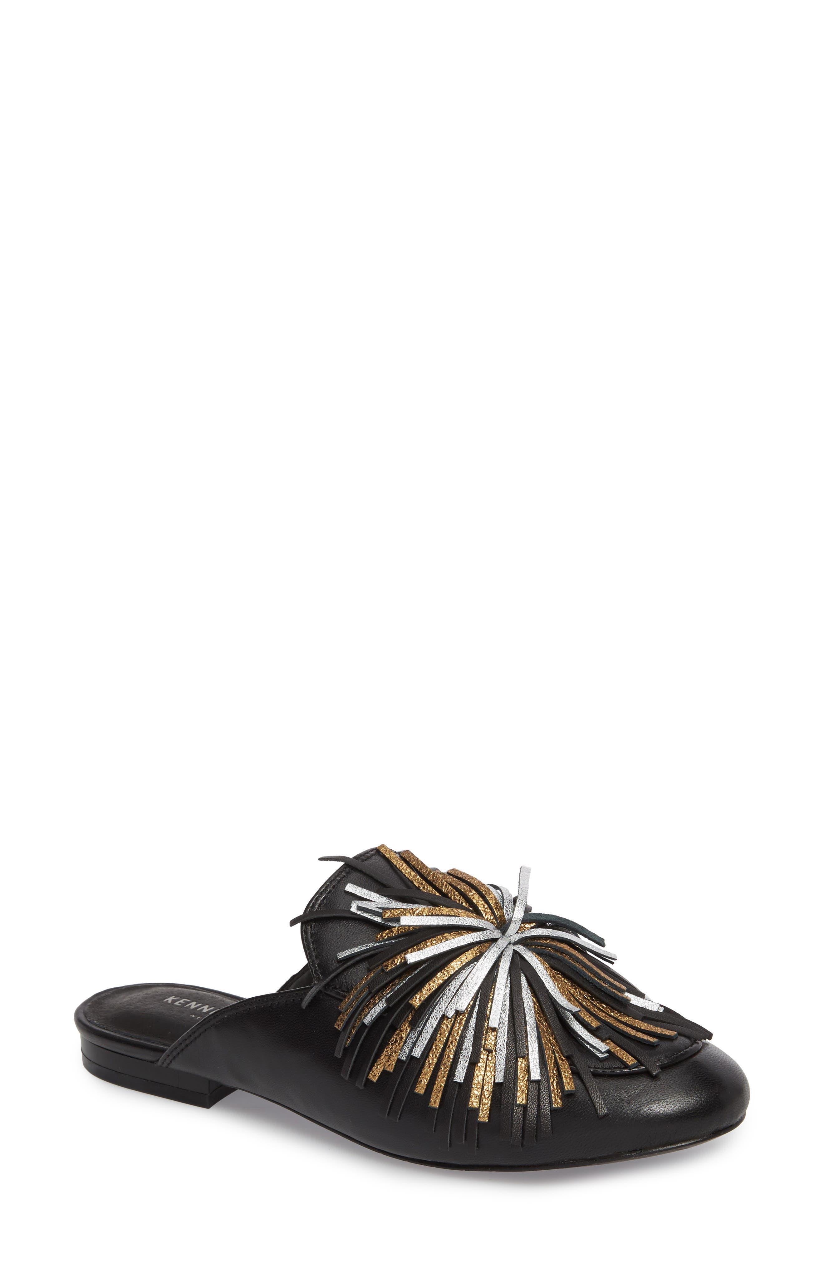Wallice Firework Fringe Loafer Mule,                         Main,                         color, 009