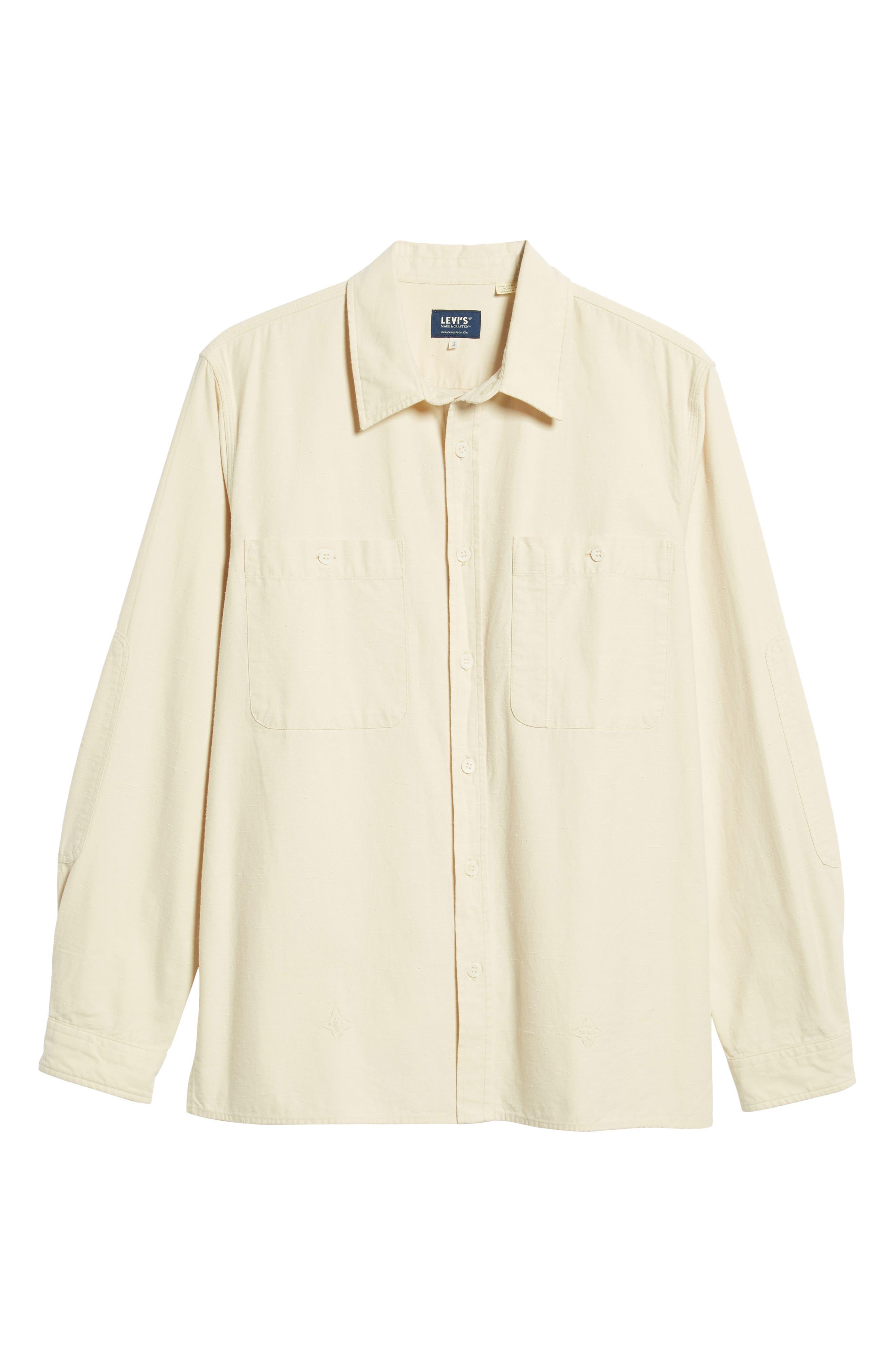 Workwear Regular Fit Shirt,                             Alternate thumbnail 5, color,                             PRISTINE