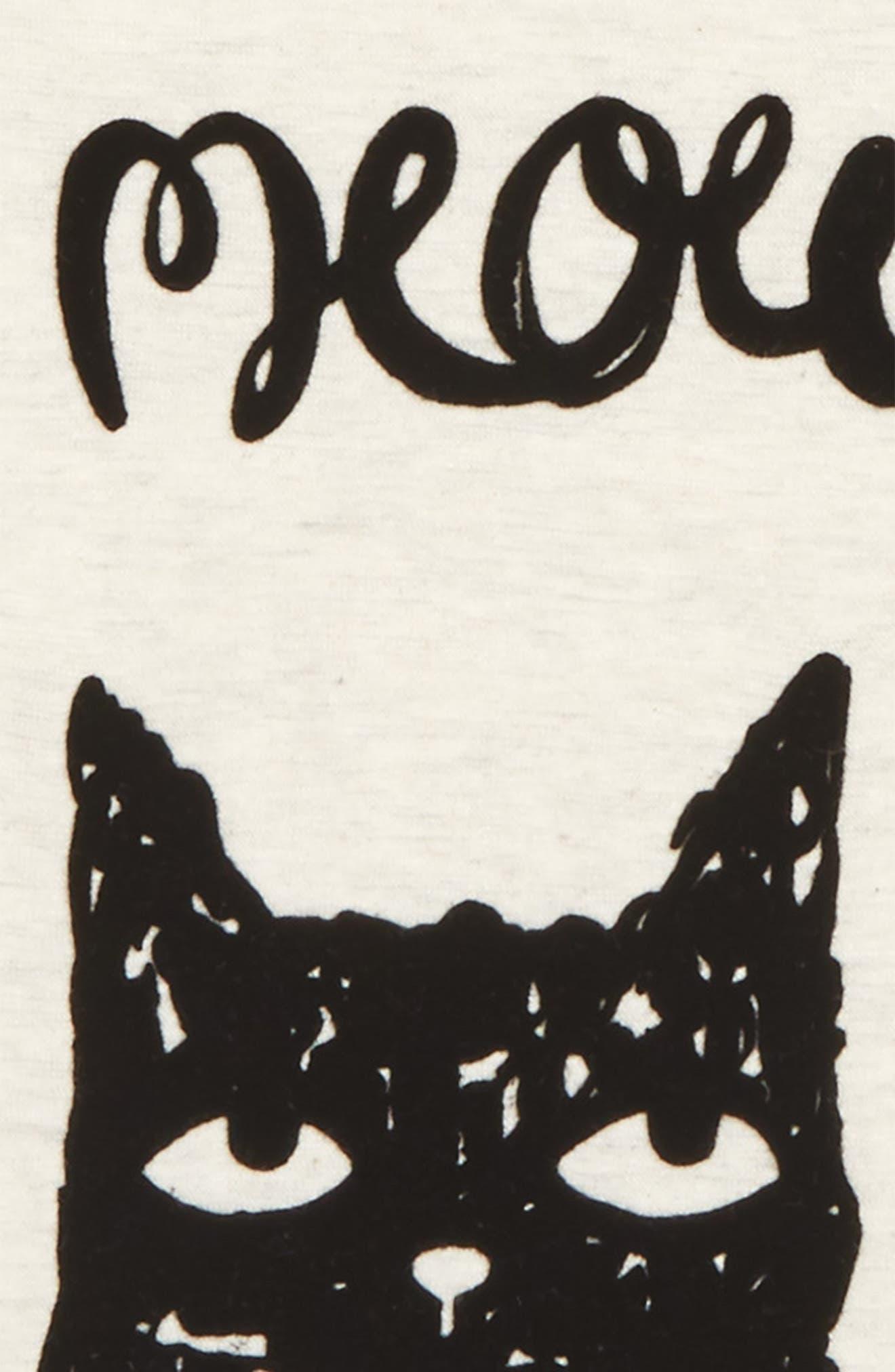 Mini Meow Graphic Tee,                             Alternate thumbnail 2, color,