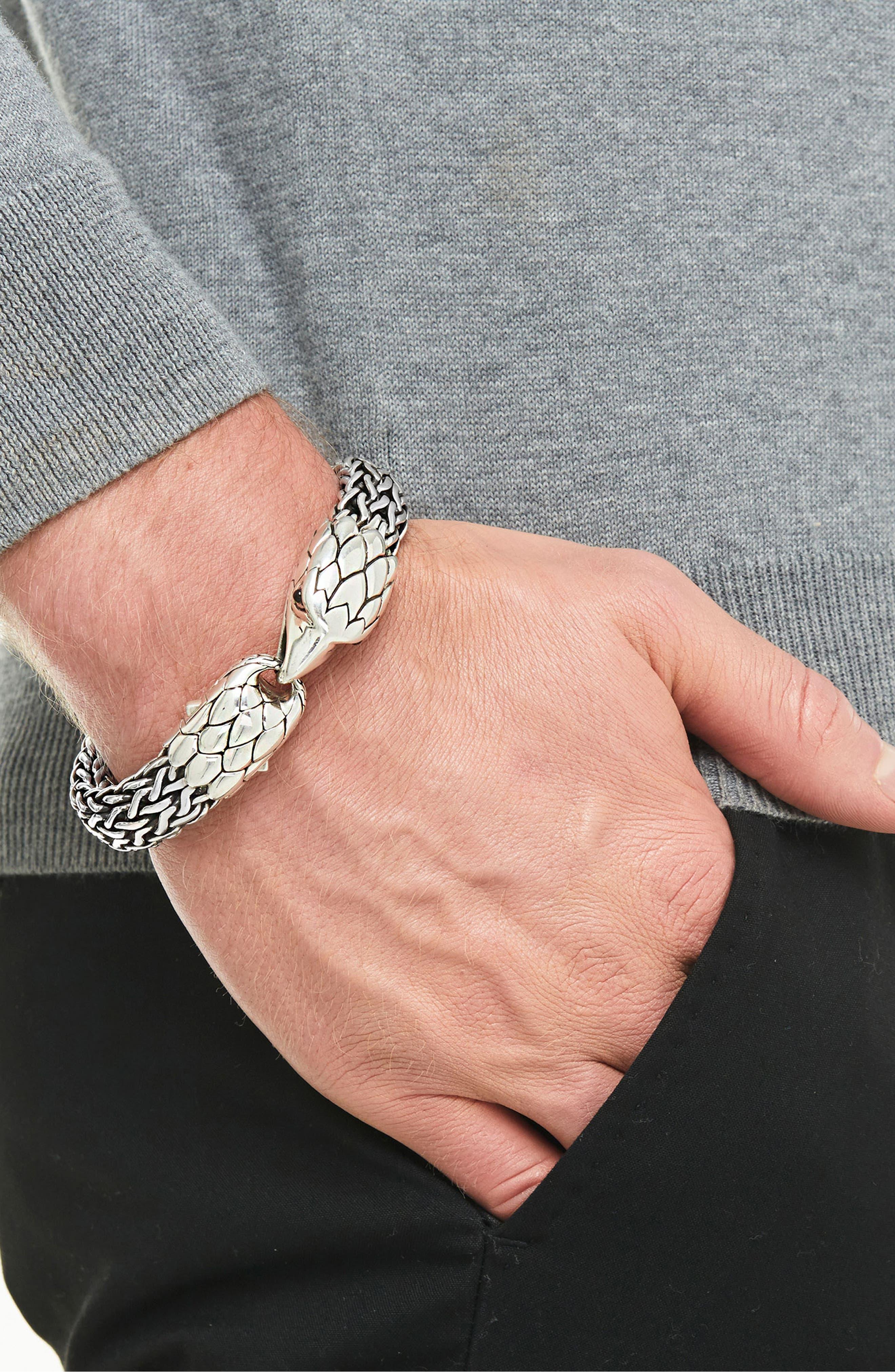 Men's Legends Eagle Station Bracelet,                             Alternate thumbnail 2, color,