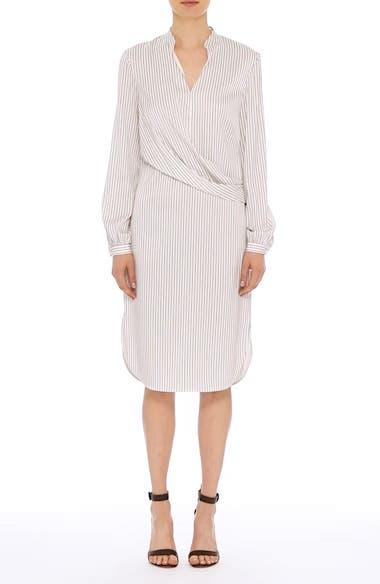 Alternate Video 8  - St. John Collection Vertical Stripe Stretch Silk Dress