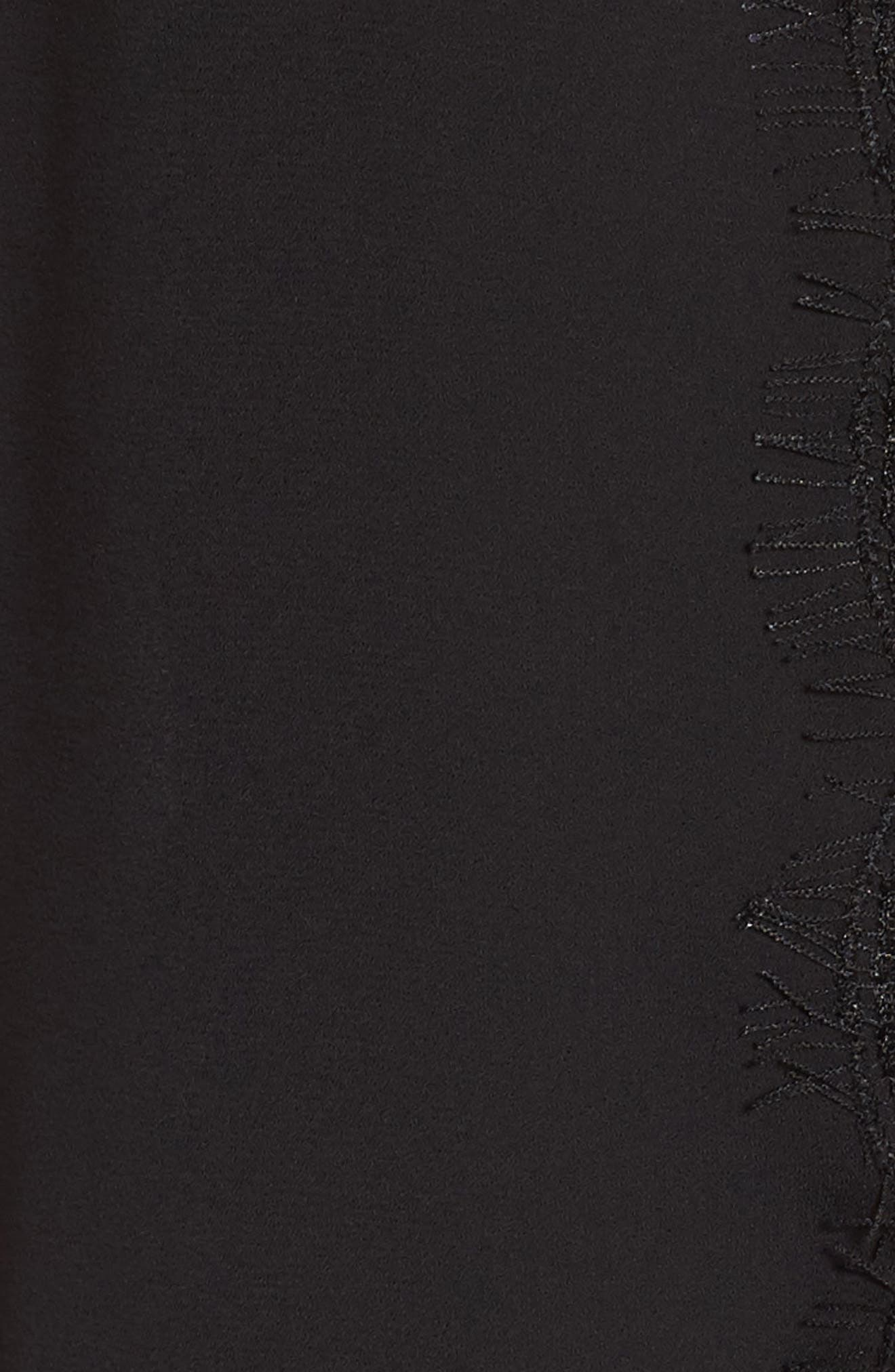 Lace & Chiffon Top,                             Alternate thumbnail 6, color,                             001