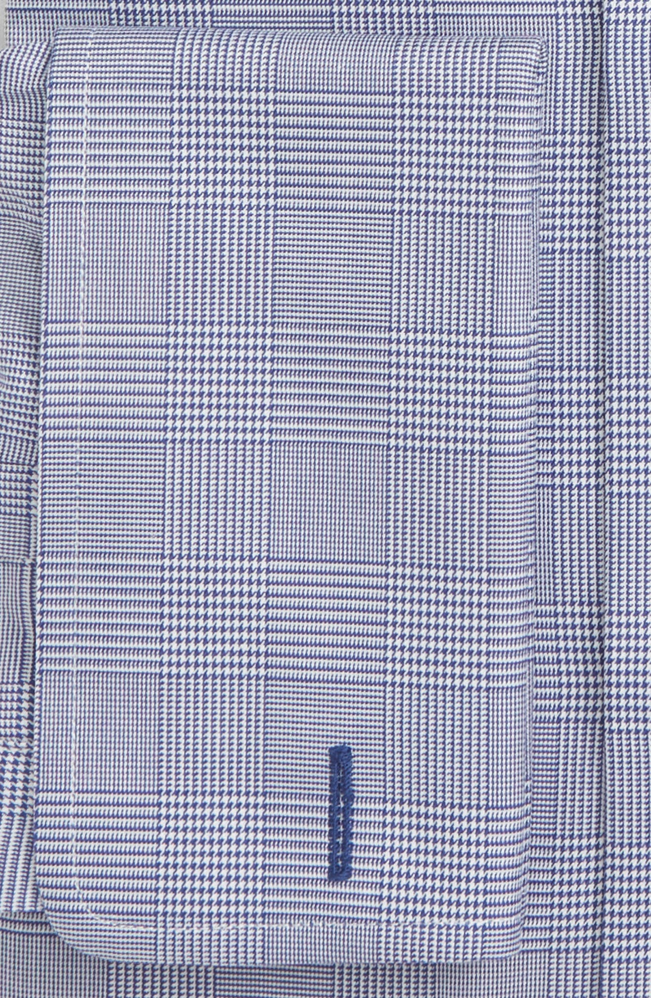 Trim Fit Plaid Dress Shirt,                             Alternate thumbnail 2, color,                             NAVY