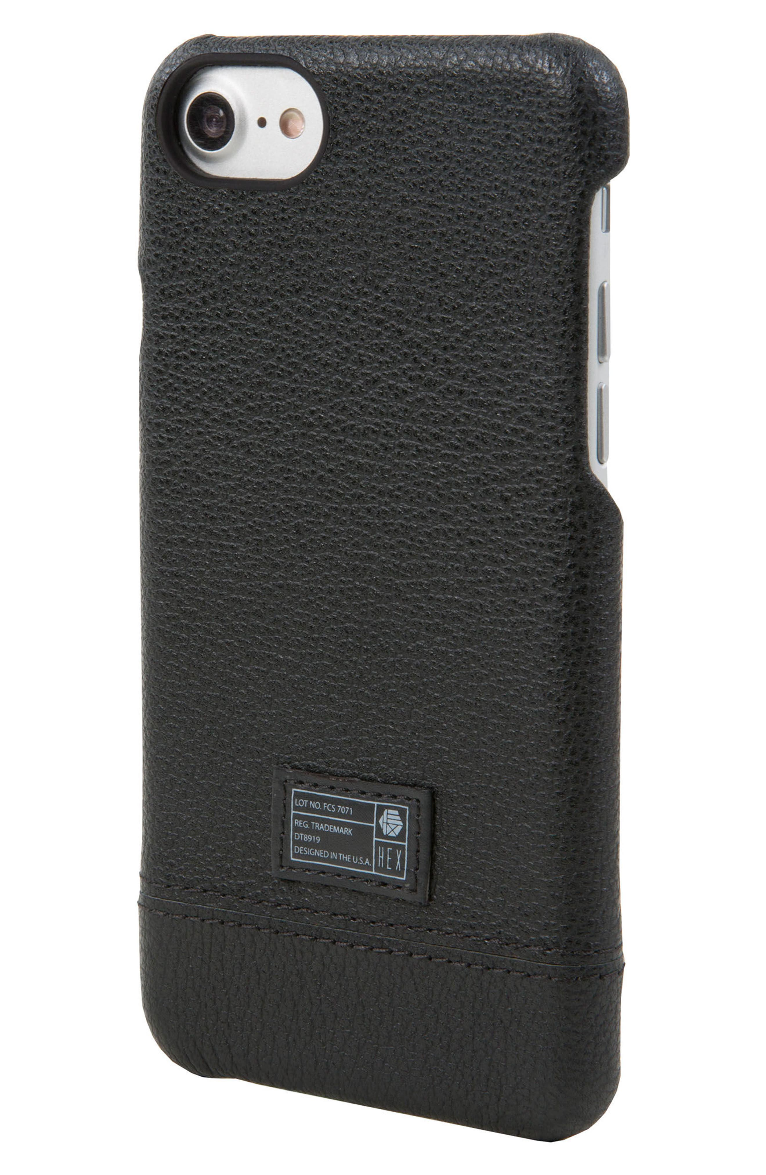 Focus Leather iPhone 6/6s/7/8 Case,                             Main thumbnail 1, color,                             001