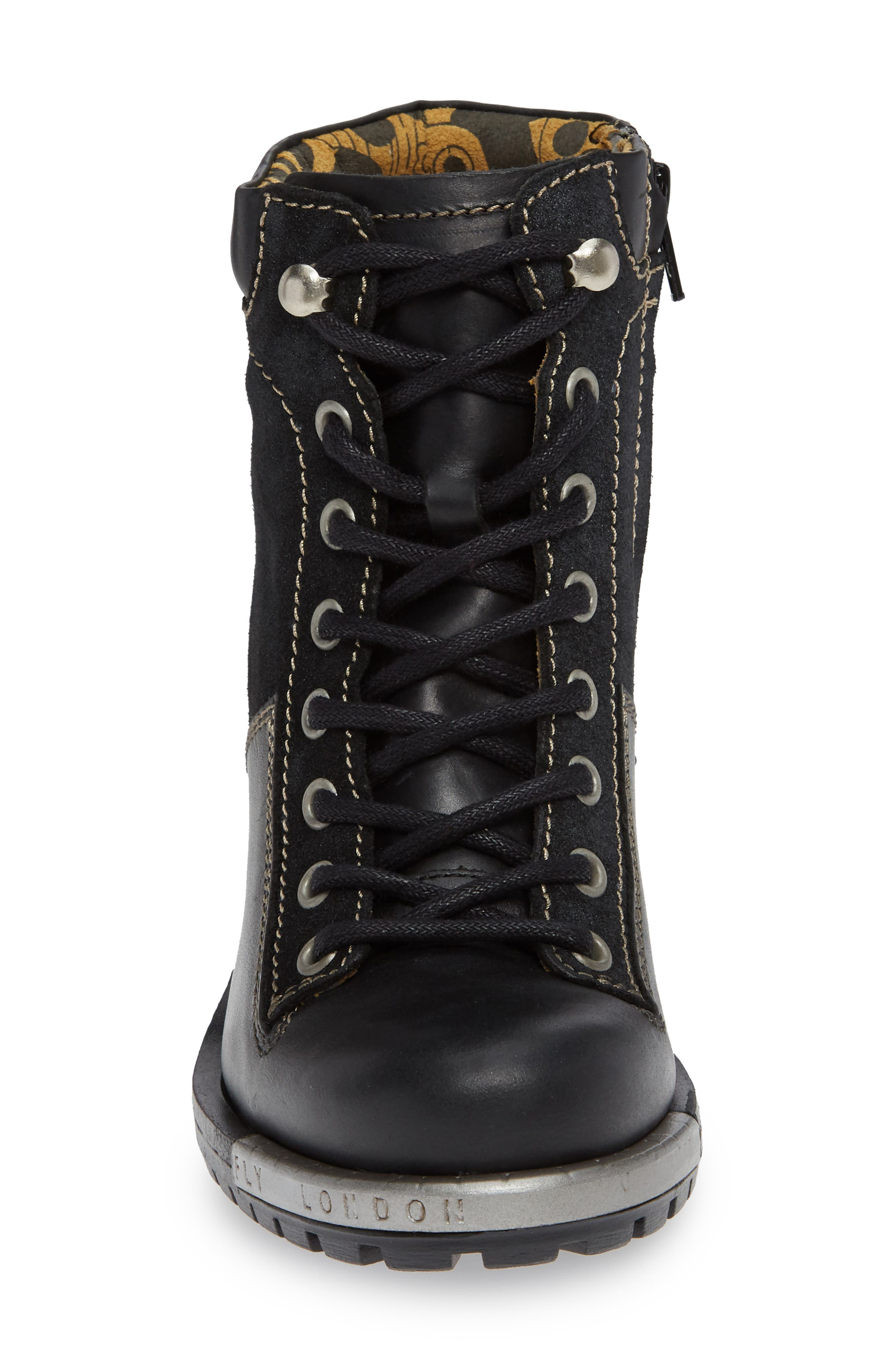 'Leal' Boot,                             Alternate thumbnail 4, color,                             BLACK/ ANTHRACITE