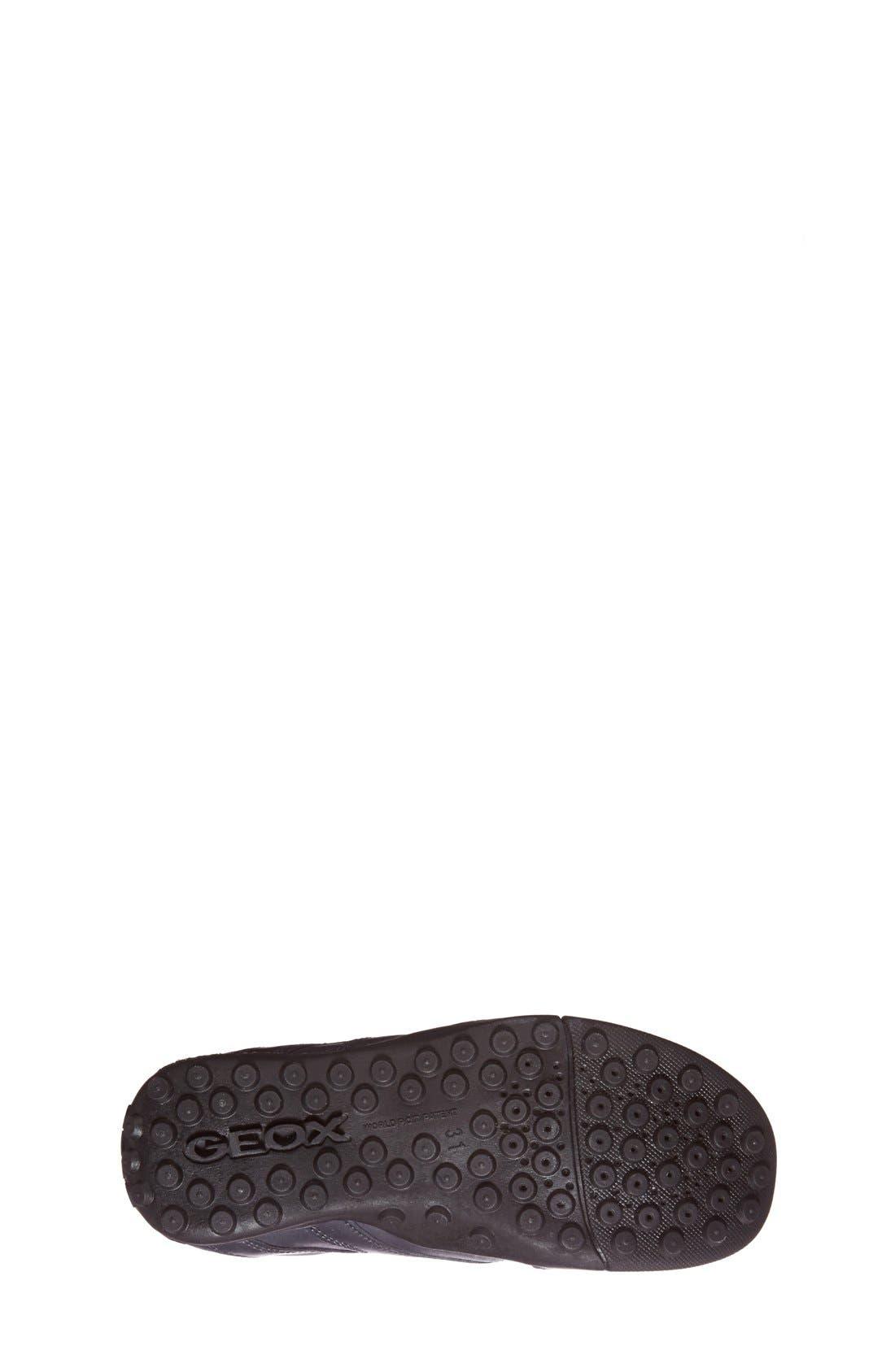 Snake Moc 2 Leather Waterproof Loafer,                             Alternate thumbnail 4, color,                             NAVY